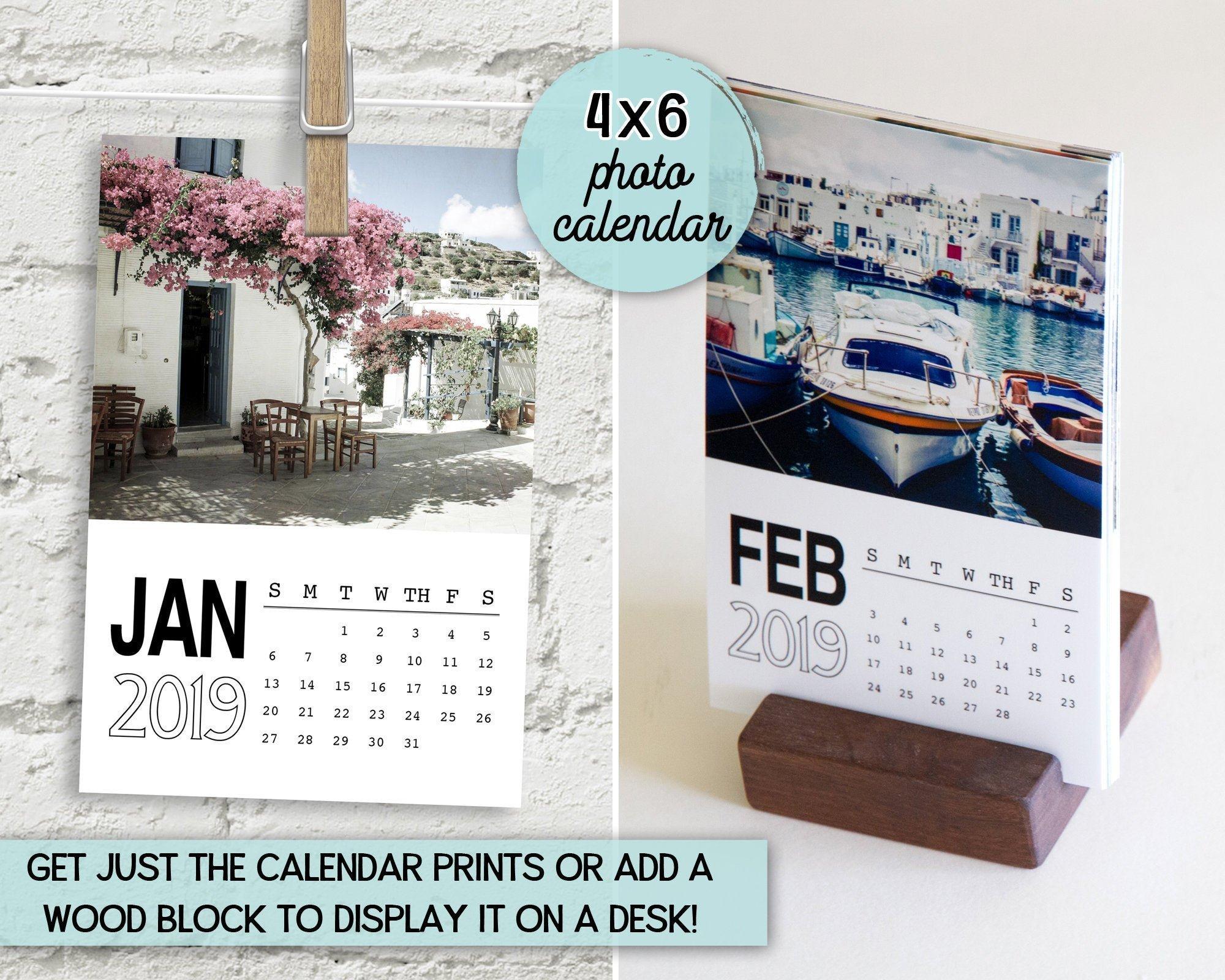 Photo Calendar 2019 4X6 Calendar Travel Photography   Etsy Calendar 2019 Travel