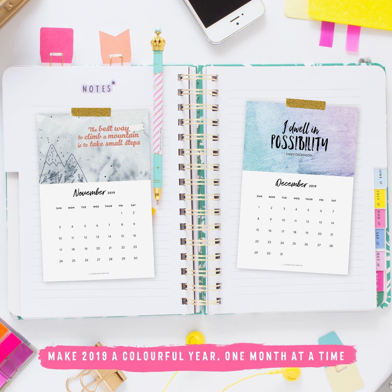 Printable 2019 Motivational Desk Calendar To Inspire You Every Month Calendar 2019 Inspirational