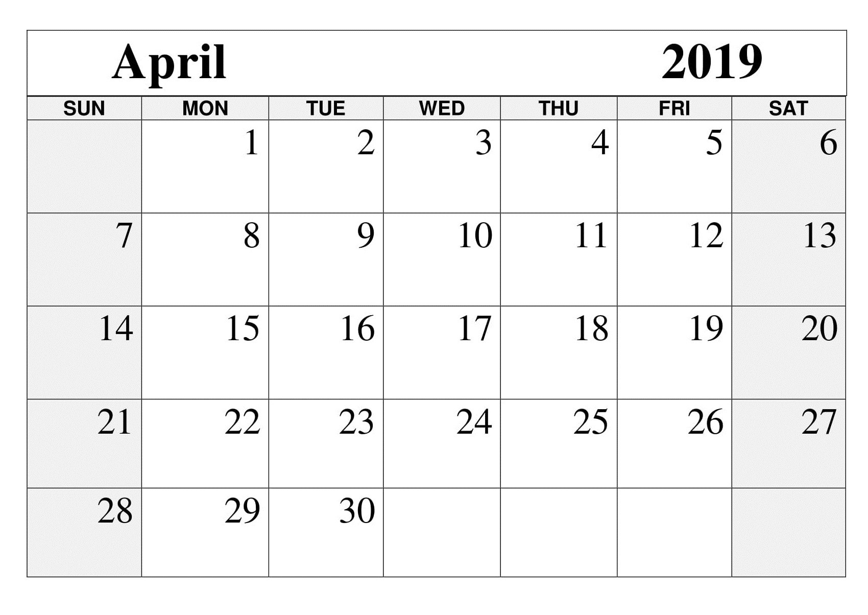 Printable April 2019 Calendar – Free March 2019 Calendar Printable April 5 2019 Calendar