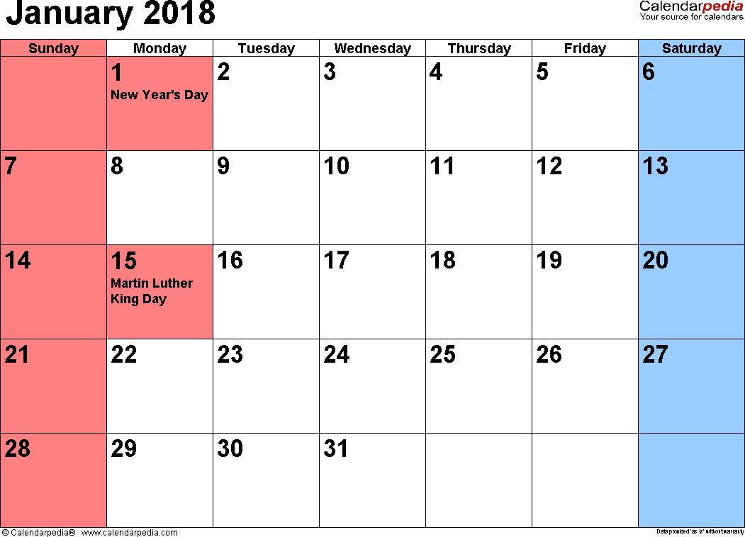 Printable Calendar 2018 Calendarpedia | Printable Calendar 2019 Calendar 2019 Calendarpedia
