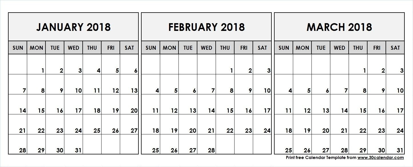 Printable Calendar 2018 January February March | Printable Calendar 2019 Calendar 2019 January And February