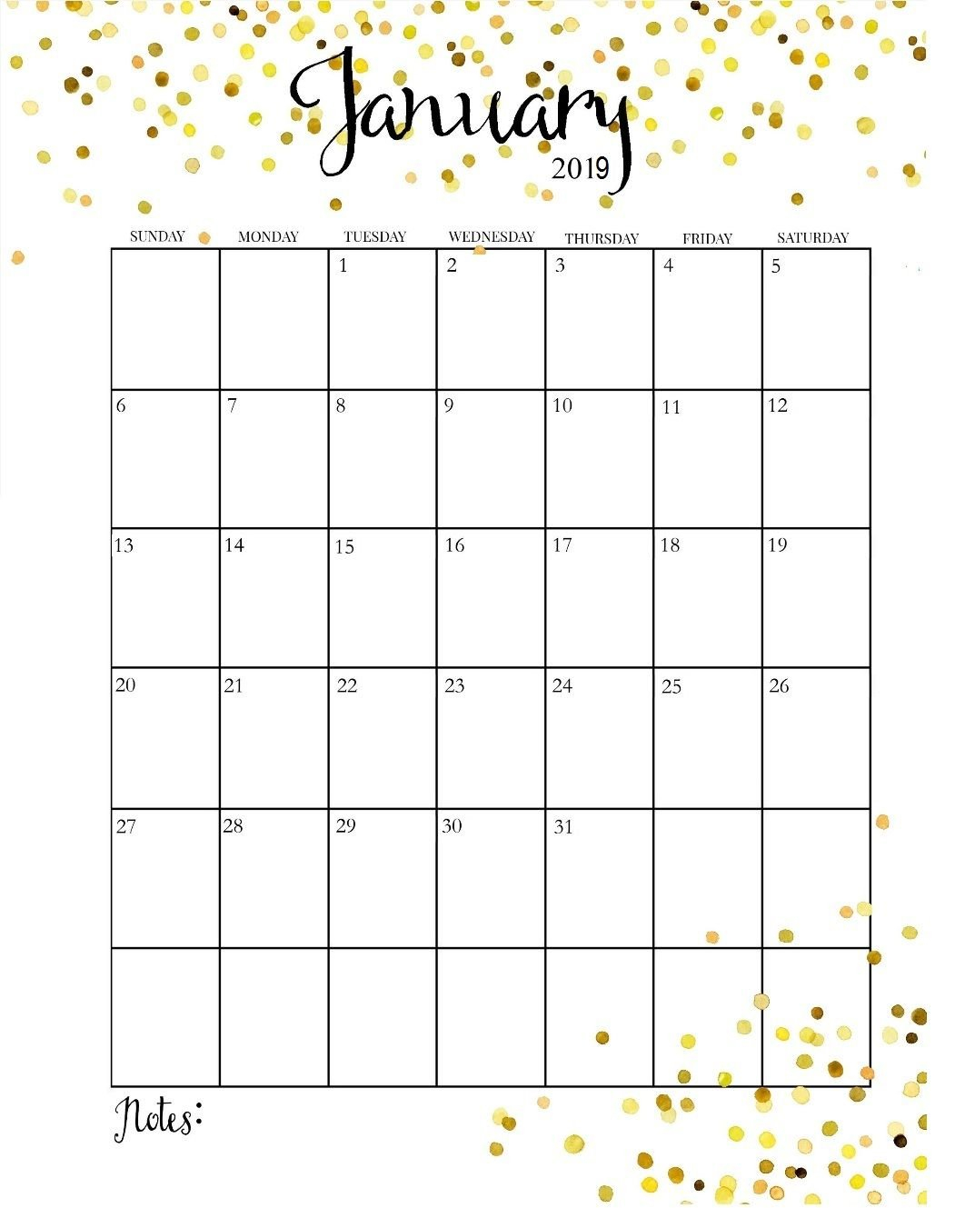 Printable Calendar 2019 Pretty | Printable Calendar 2019 Calendar 2019 Pretty