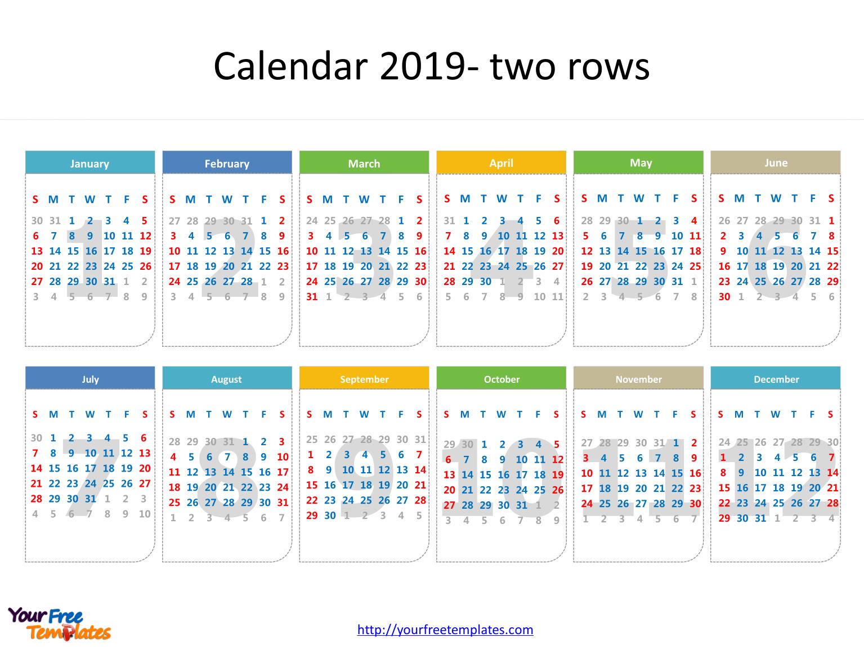 Printable Calendar 2019 Template – Free Powerpoint Templates Calendar 2019 Dates