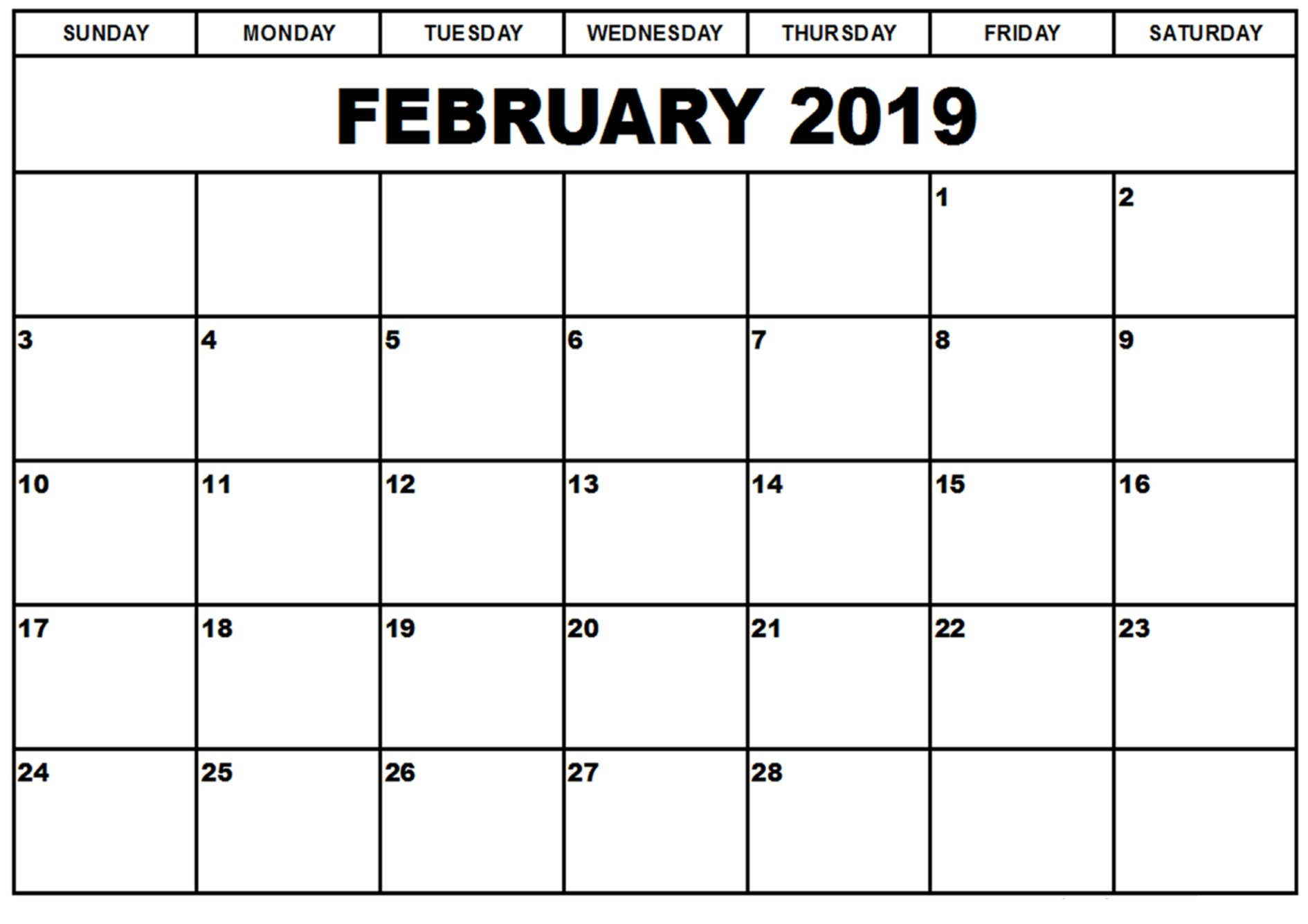 Printable Calendar With Lines To Write On 2019 | Printable Calendar 2019 Calendar 2019 Write In