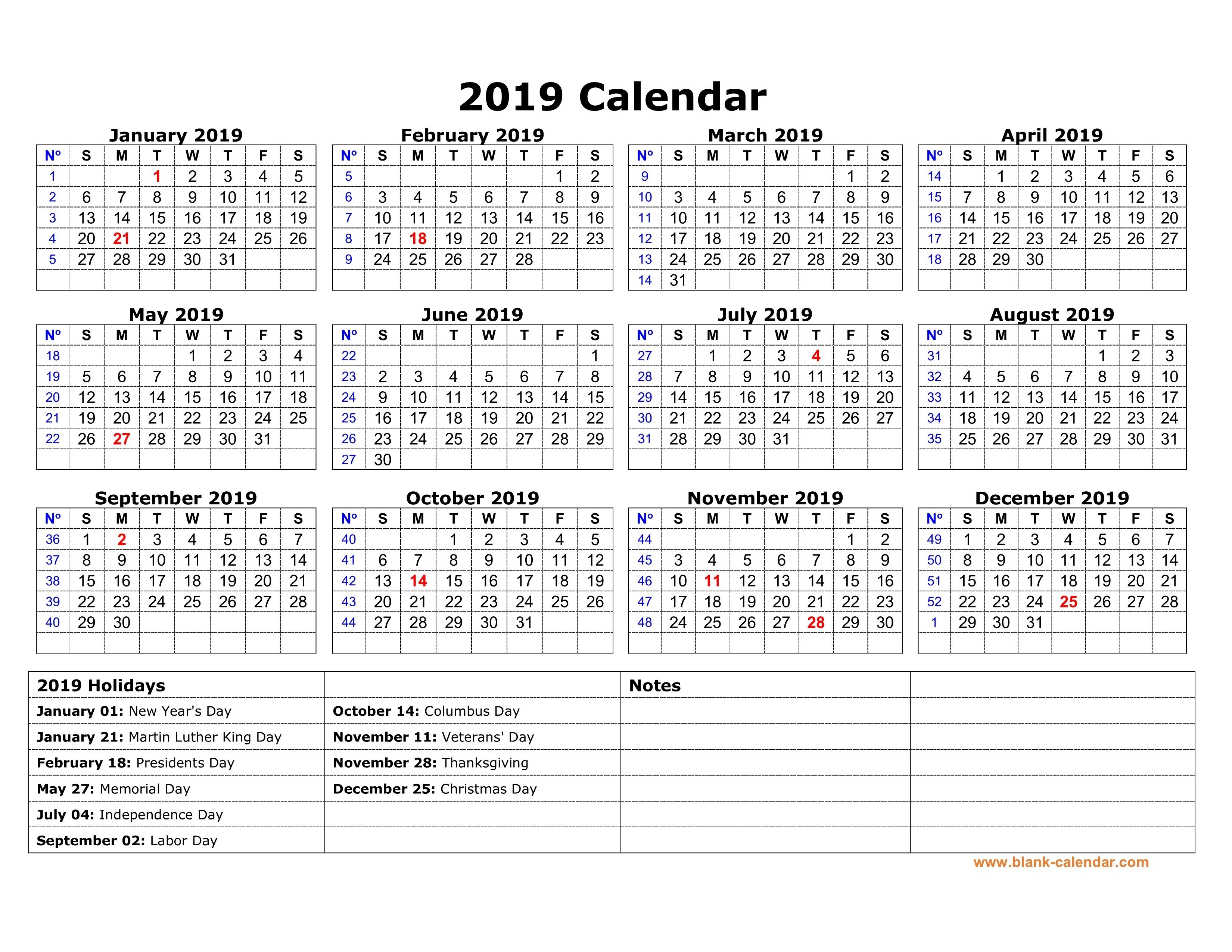 Printable Calendar019 No Holidays   Jazz Gear Calendar 2019 Rh Gh