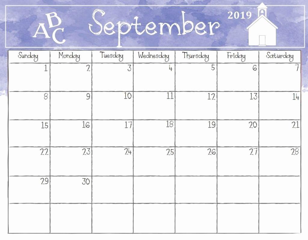 Printable Fill In September 2019 Calendar September 2019 Calendar Calendar 2019 Fill In