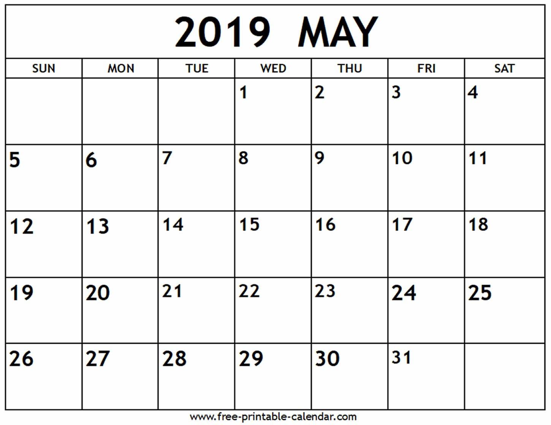 Printable May 2019 Calendar Free (4) | Download 2019 Calendar May 4 2019 Calendar