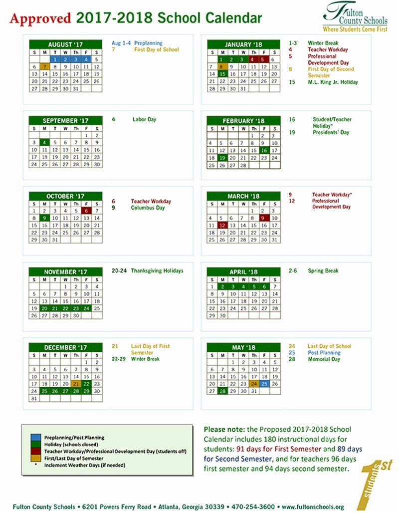 Printable School Calendar 17 18 Printable School Calendar 17 18 Gwinnett County School Calendar 2019 20