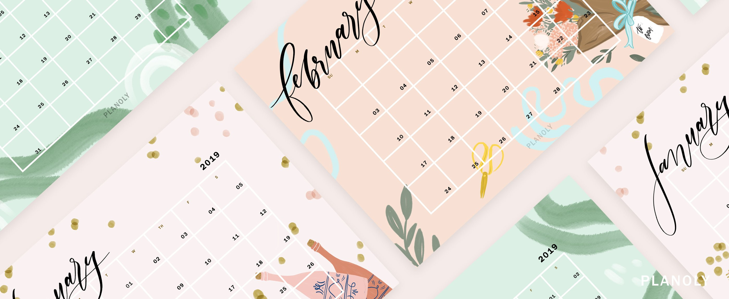 Q1 2019 Content Calendars – Planoly Calendar Q1 2019