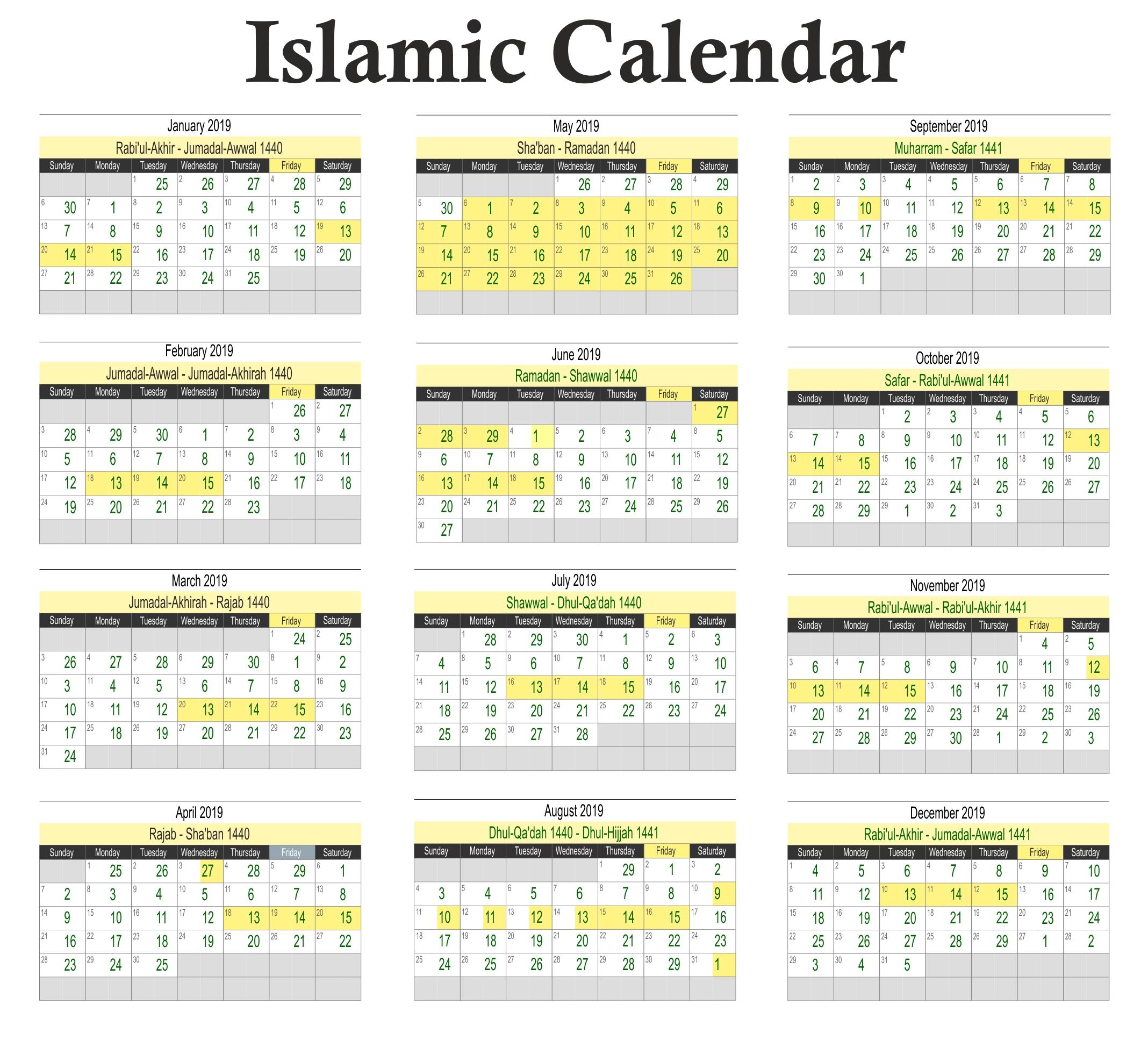 Ramadan Calendar 2019 Png Calendar 2019 Hijri