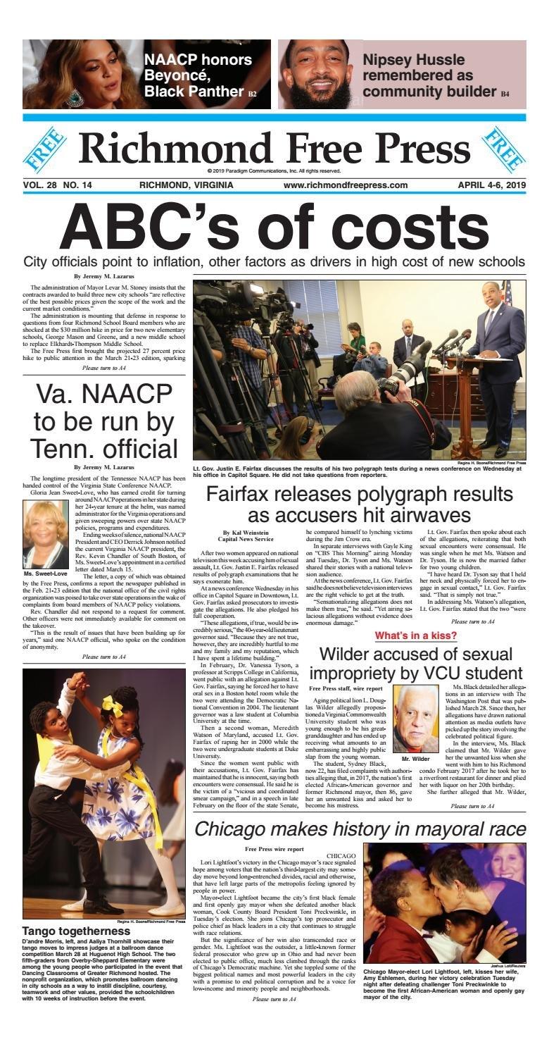 Richmond Free Press April 4 6, 2019 Editionrichmond Free Press J Sargeant Reynolds Calendar 2019