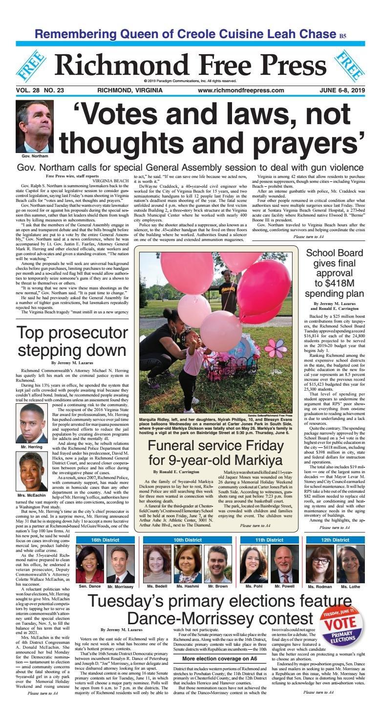 Richmond Free Press June 6 8, 2019Richmond Free Press – Issuu J Sargeant Reynolds Calendar 2019