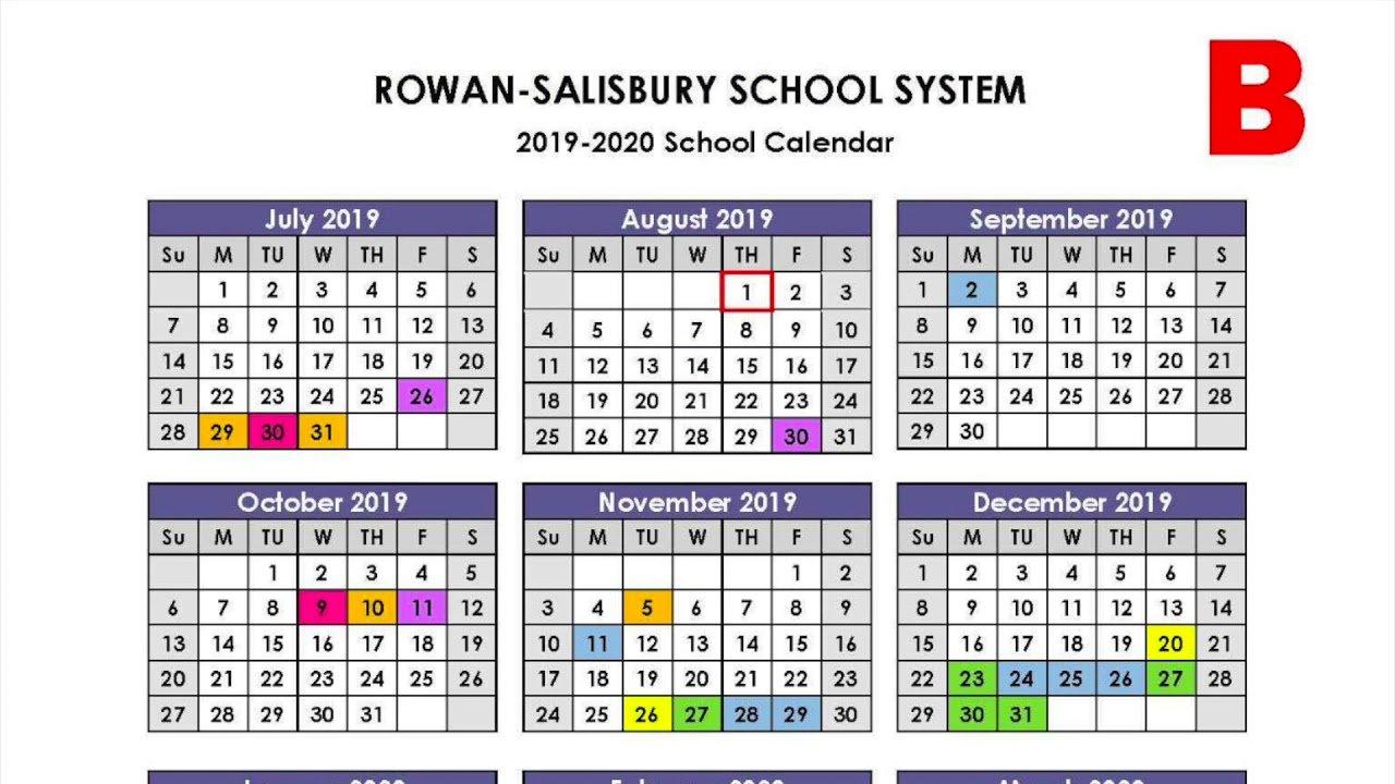 Rowan Salisbury Schools Proposed Calendars Video – Youtube Calendar 2019 Video