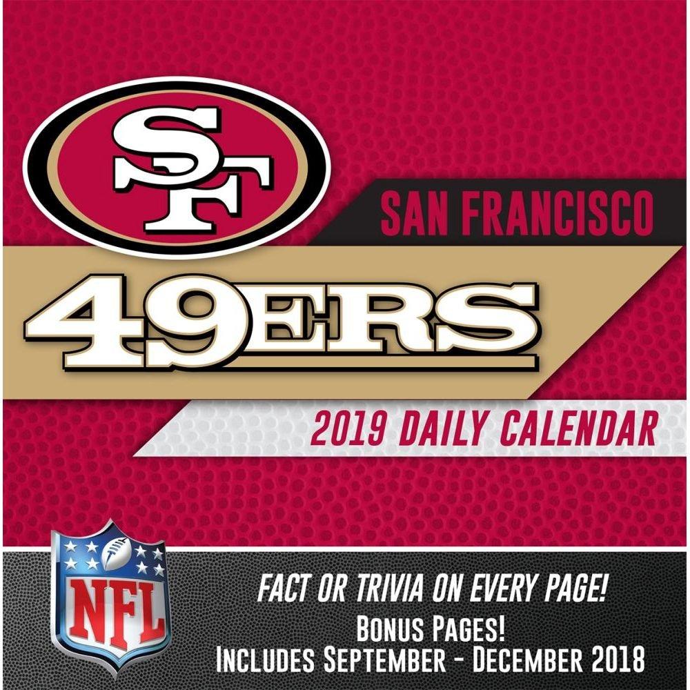 San Francisco 49Ers 2019 Desk Calendar Calendars Books & Gifts 49Ers Calendar 2019