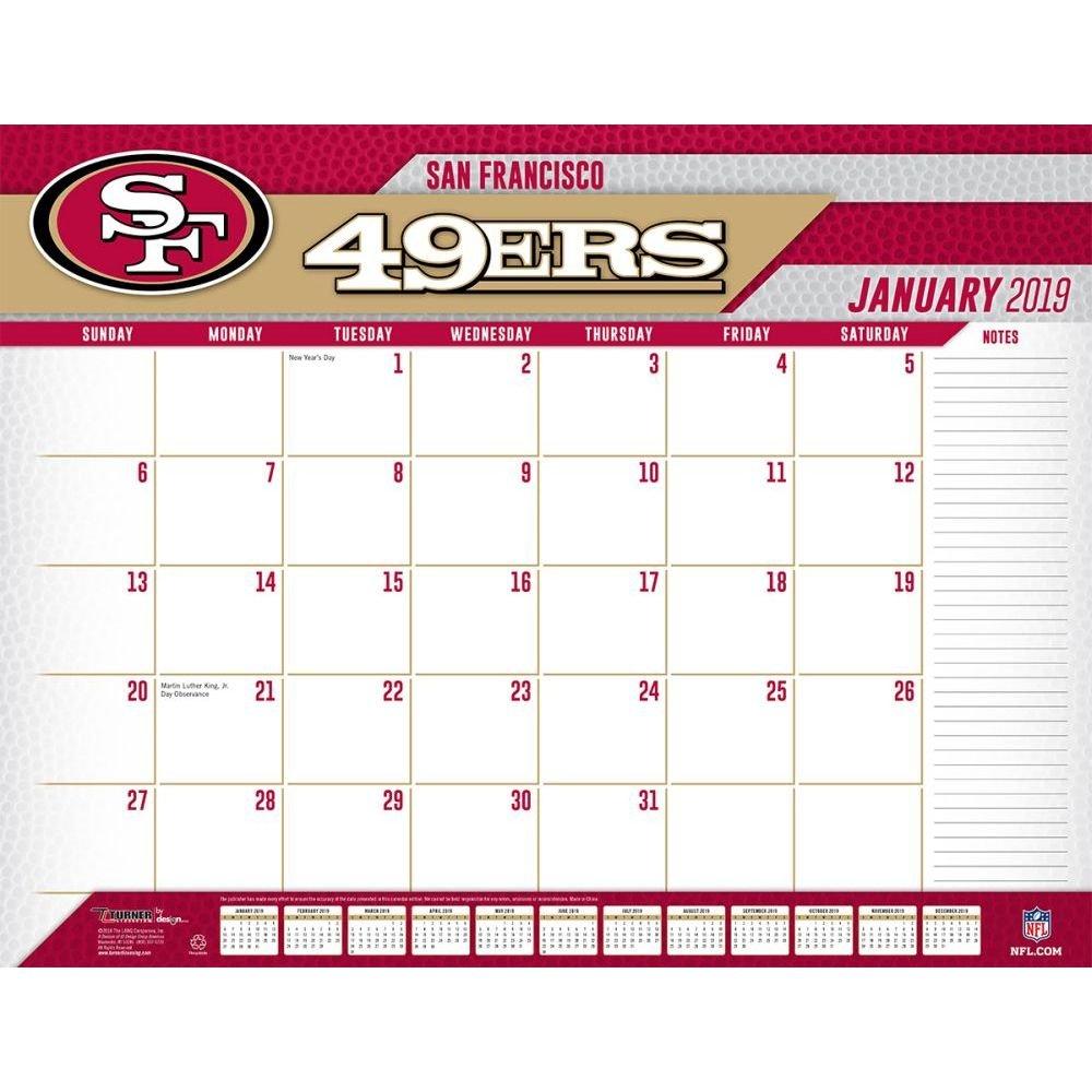 San Francisco 49Ers 2019 Desk Pad Calendars Books & Gifts 49Ers Calendar 2019