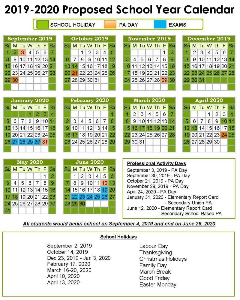 School Year Calendar – Keewatin Patricia District School Board Calendar 2019 Ontario