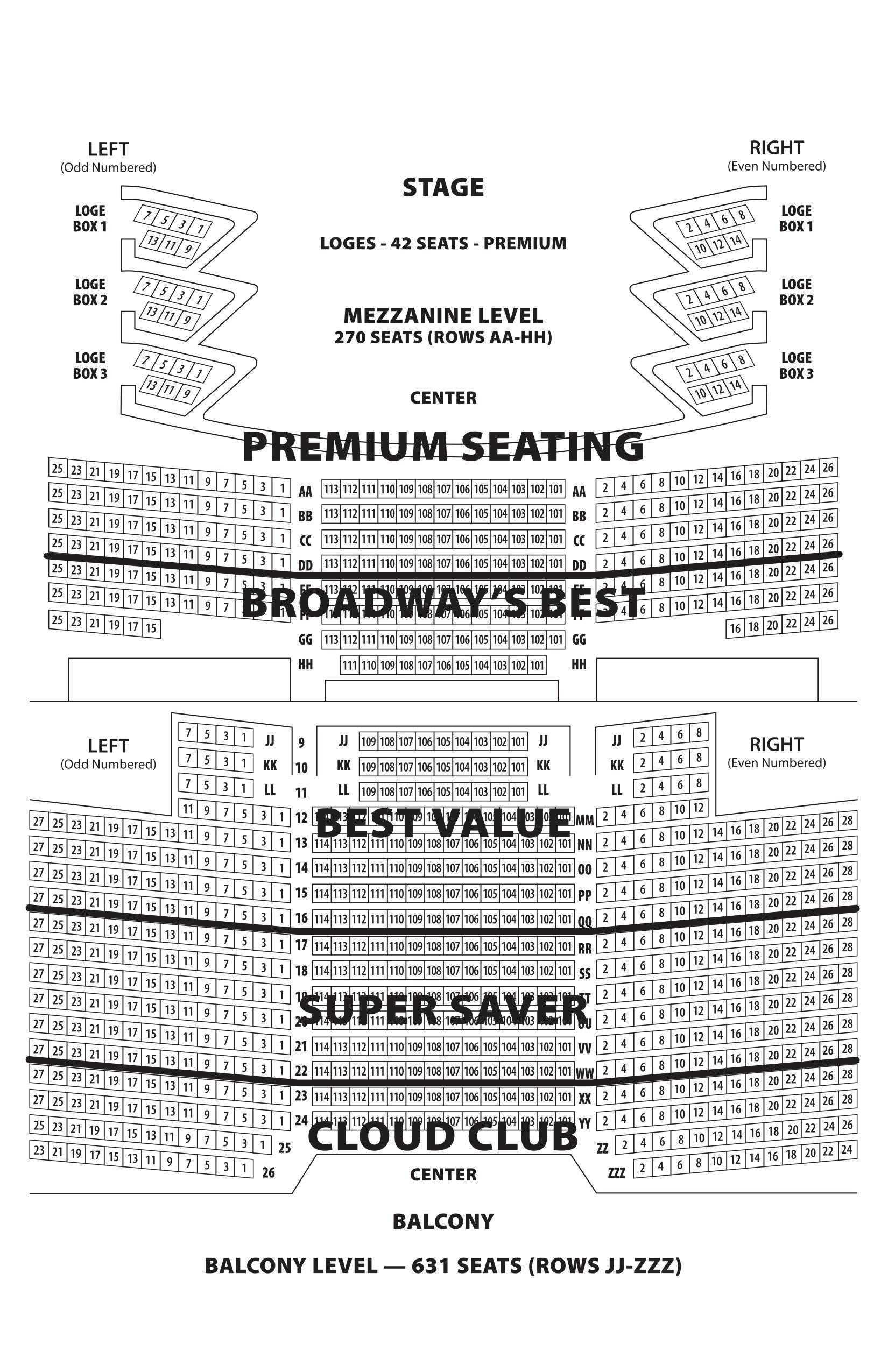 Seating Charts   Barbara B. Mann – Performing Arts Hall Barbara B Mann Calendar 2019