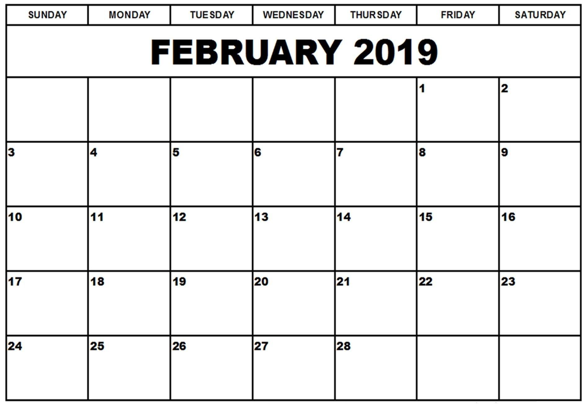 Show February 2019 Calendar | Calendar Format Example Show A 2019 Calendar