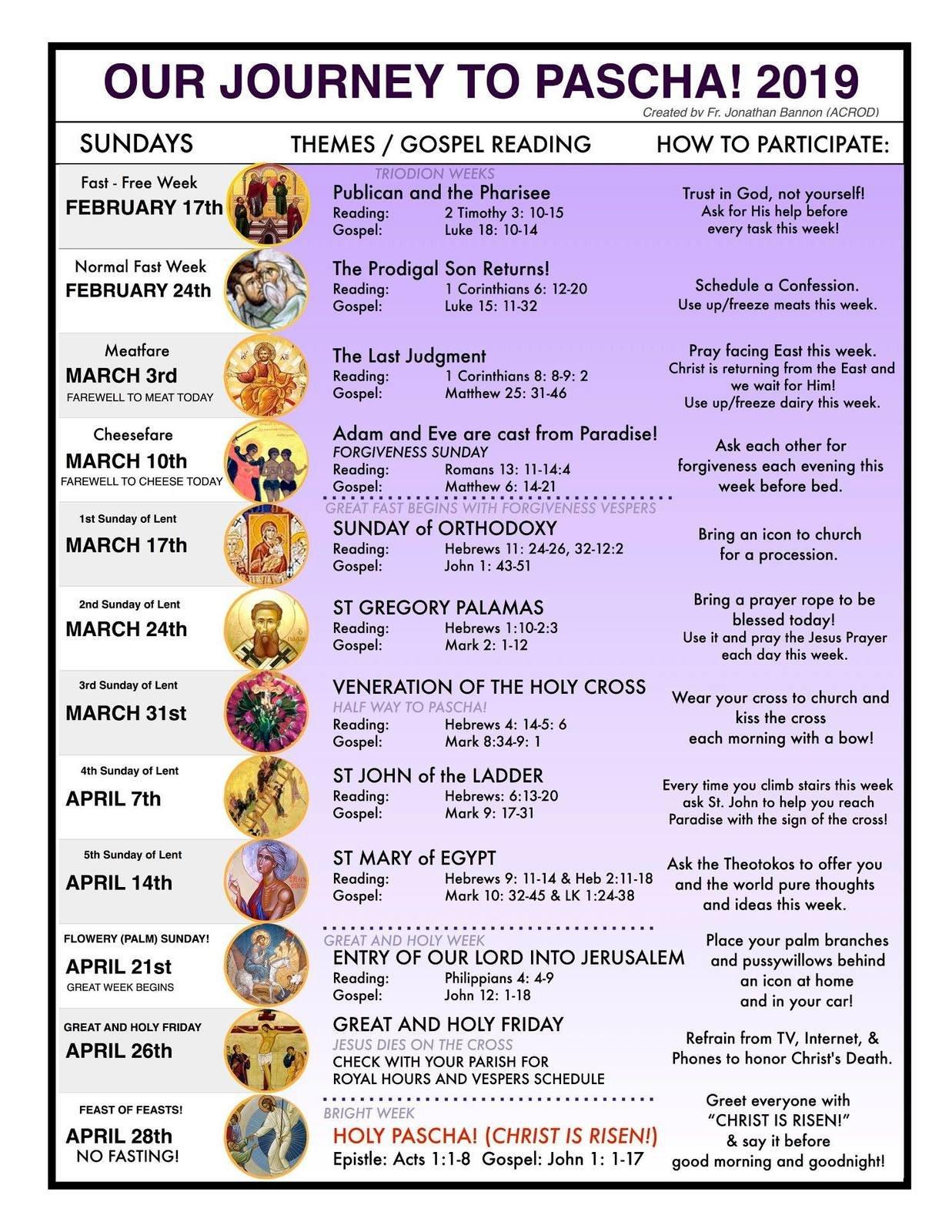 St. Philip Orthodox Church – Calendars Calendar 2019 Umich