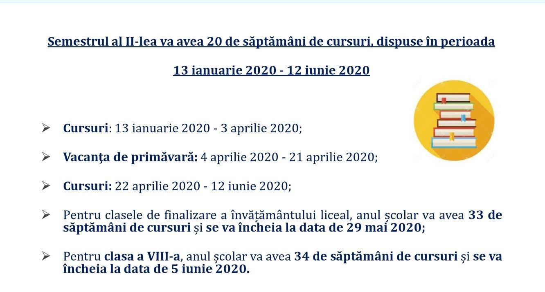 Structura Anului Școlar 2019 2020: Elevii Încep Cursurile Pe 9 Calendar Scolar 2019 Clasa 8