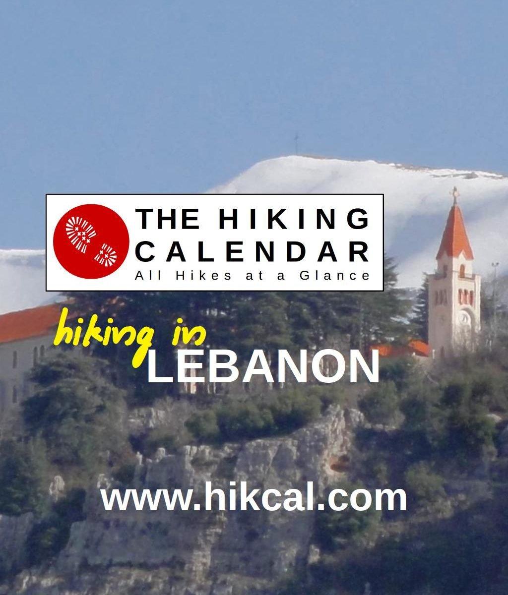 The Hiking Calendar   Hiking In Lebanon Calendar 2019 Lebanon