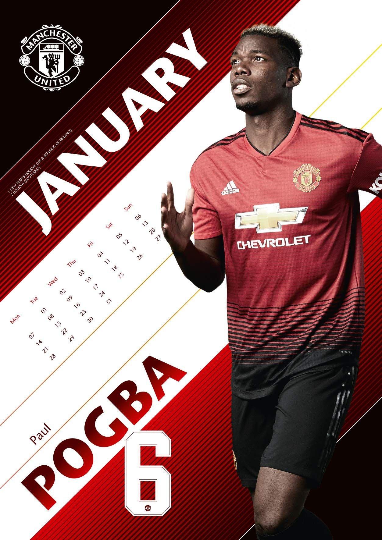 The Official Manchester United Calendar 2019 Calendar – Wall Man U Calendar 2019