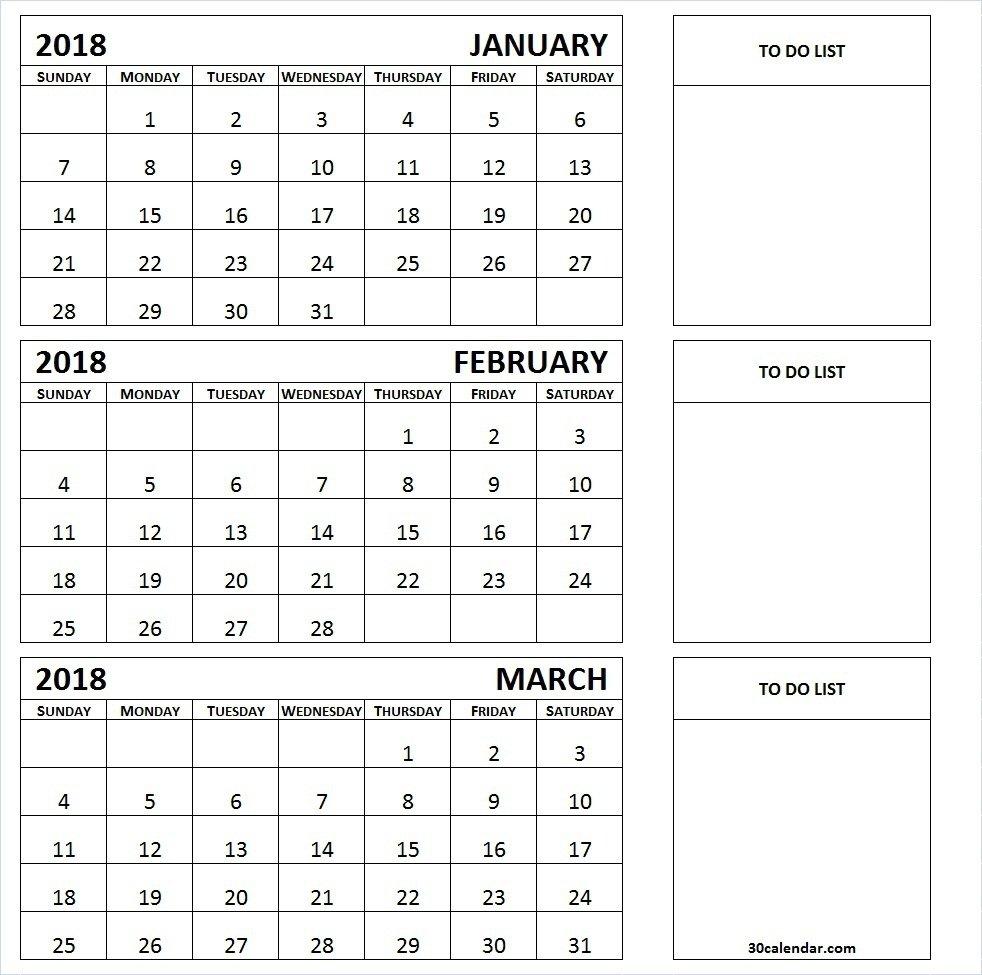 Three Month Printable Calendar 2019   Printable Calendar 2019 3 Month Calendar 2019