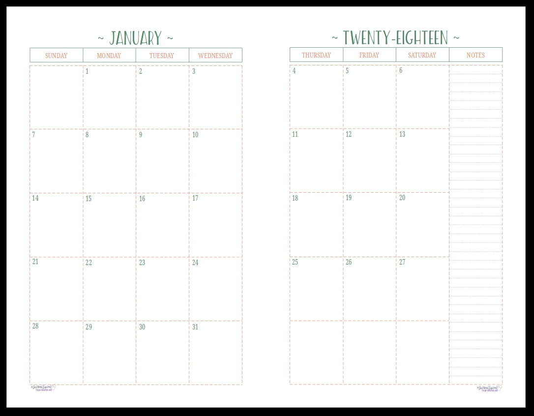 Two Page Monthly Calendar Template 2019 – Icard.cmi C 2 Page Calendar 2019