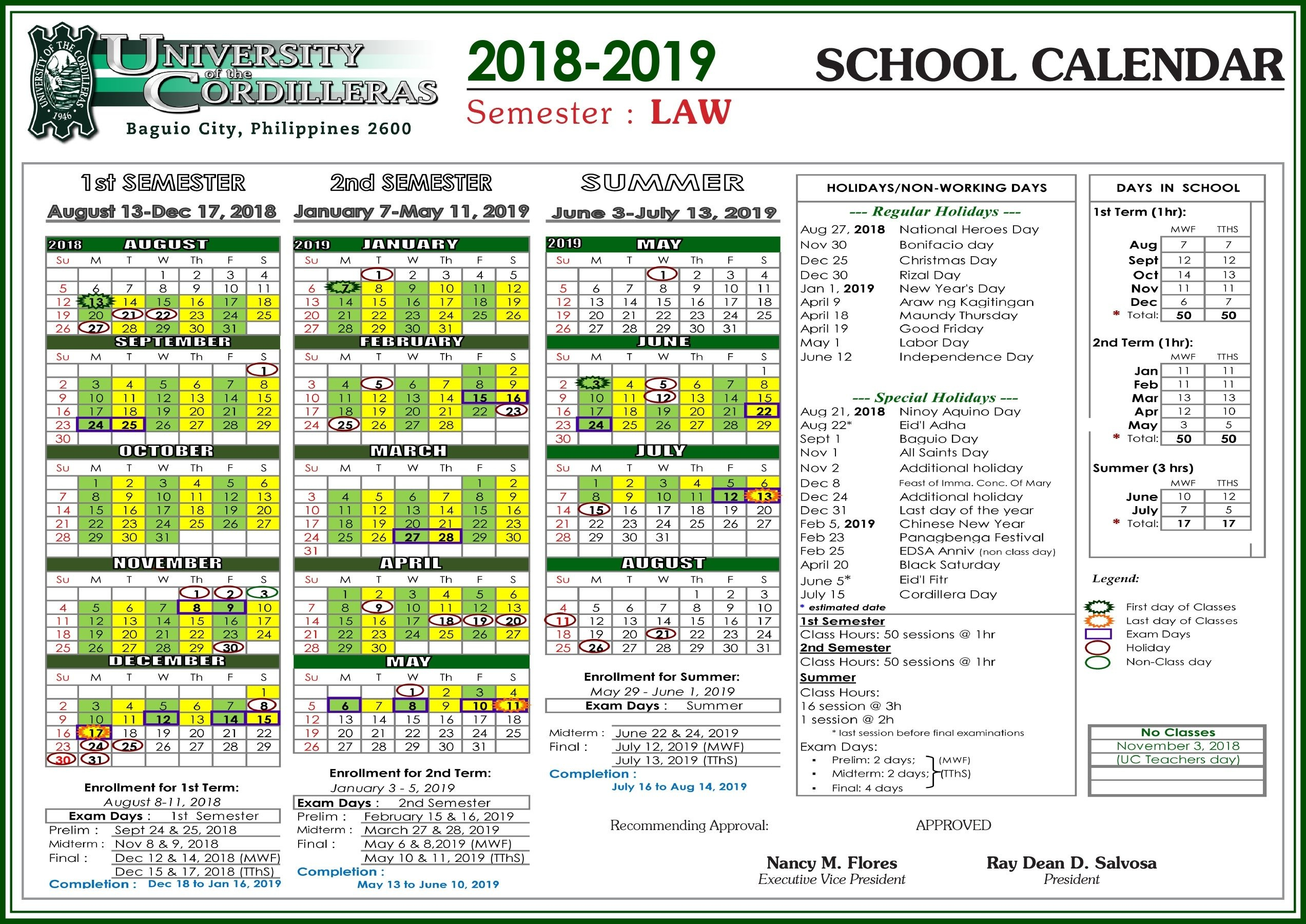 U Of C Calendar Holidays • Printable Blank Calendar Template U Of A Calendar 2019