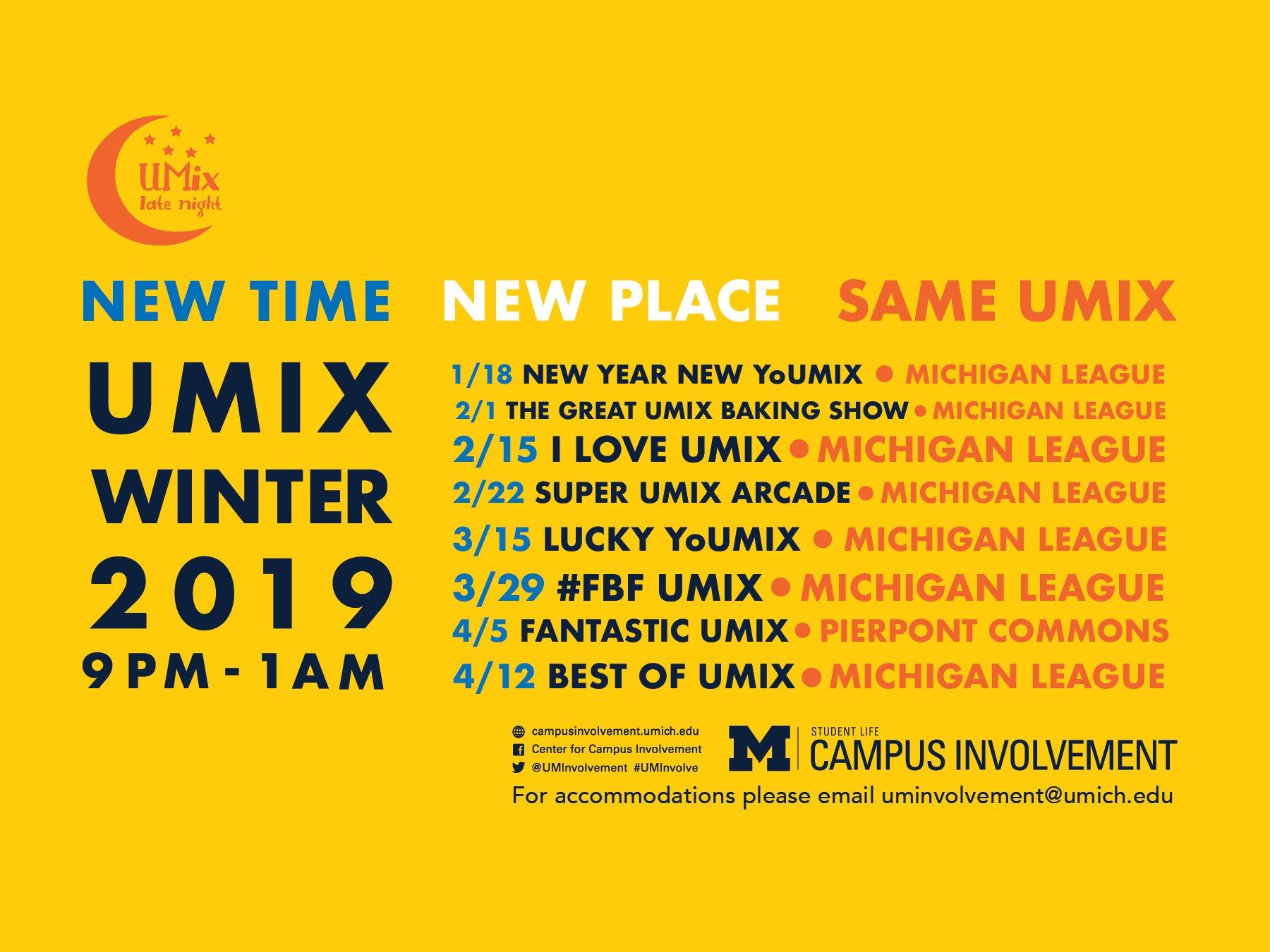 Umix Winter 2019 | Campus Involvement U Michigan Calendar 2019