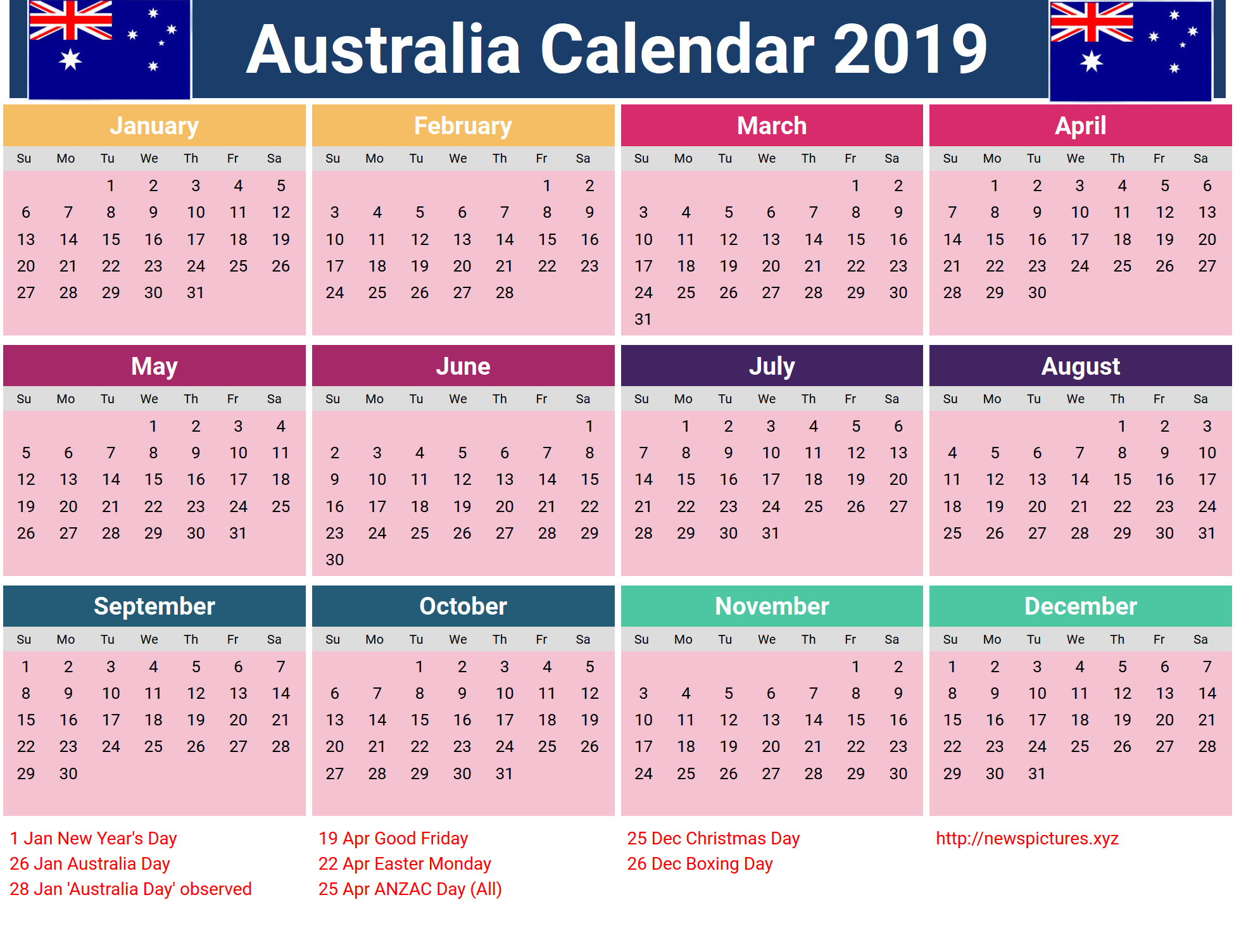 United Kingdom 2019 Holidays Calendar | Monthly Calendar Templates Calendar 2019 Printable Holidays
