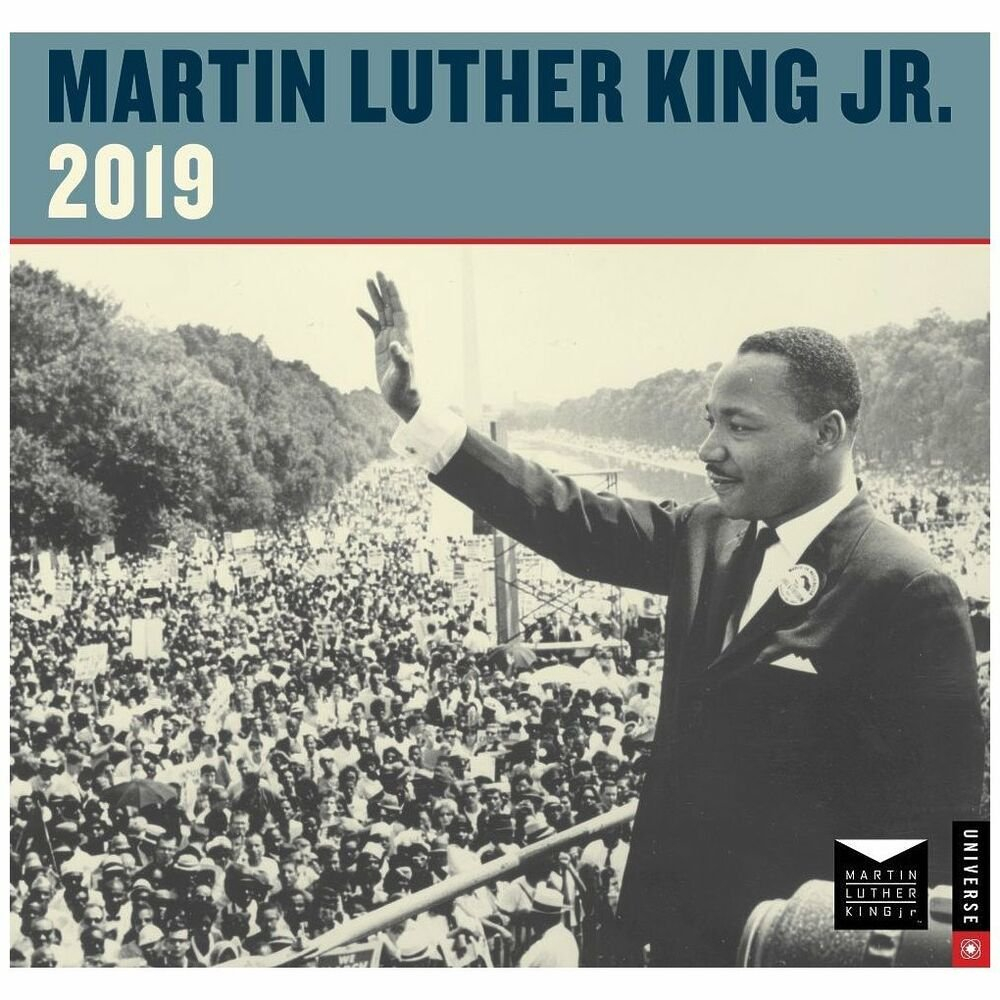 Universe Publishing Martin Luther King Jr Wall Calendar, More Calendar 2019 Martin Luther King