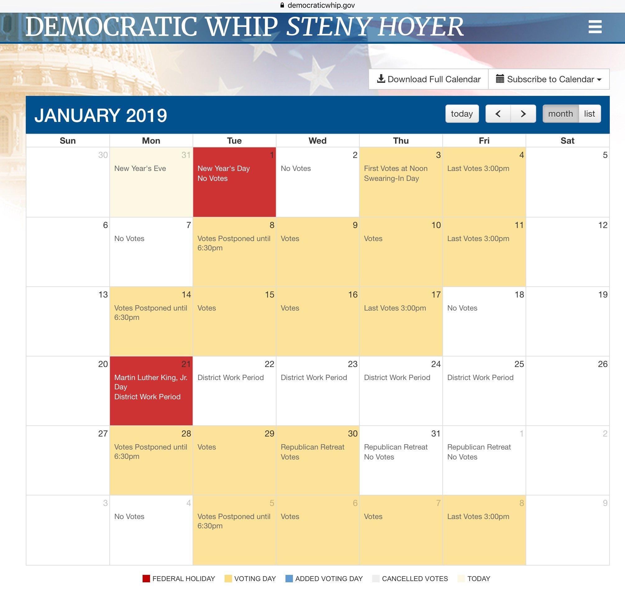 Us Congress: House Of Representatives Calendar 2019   Mining Awareness + U.s. Senate Calendar 2019