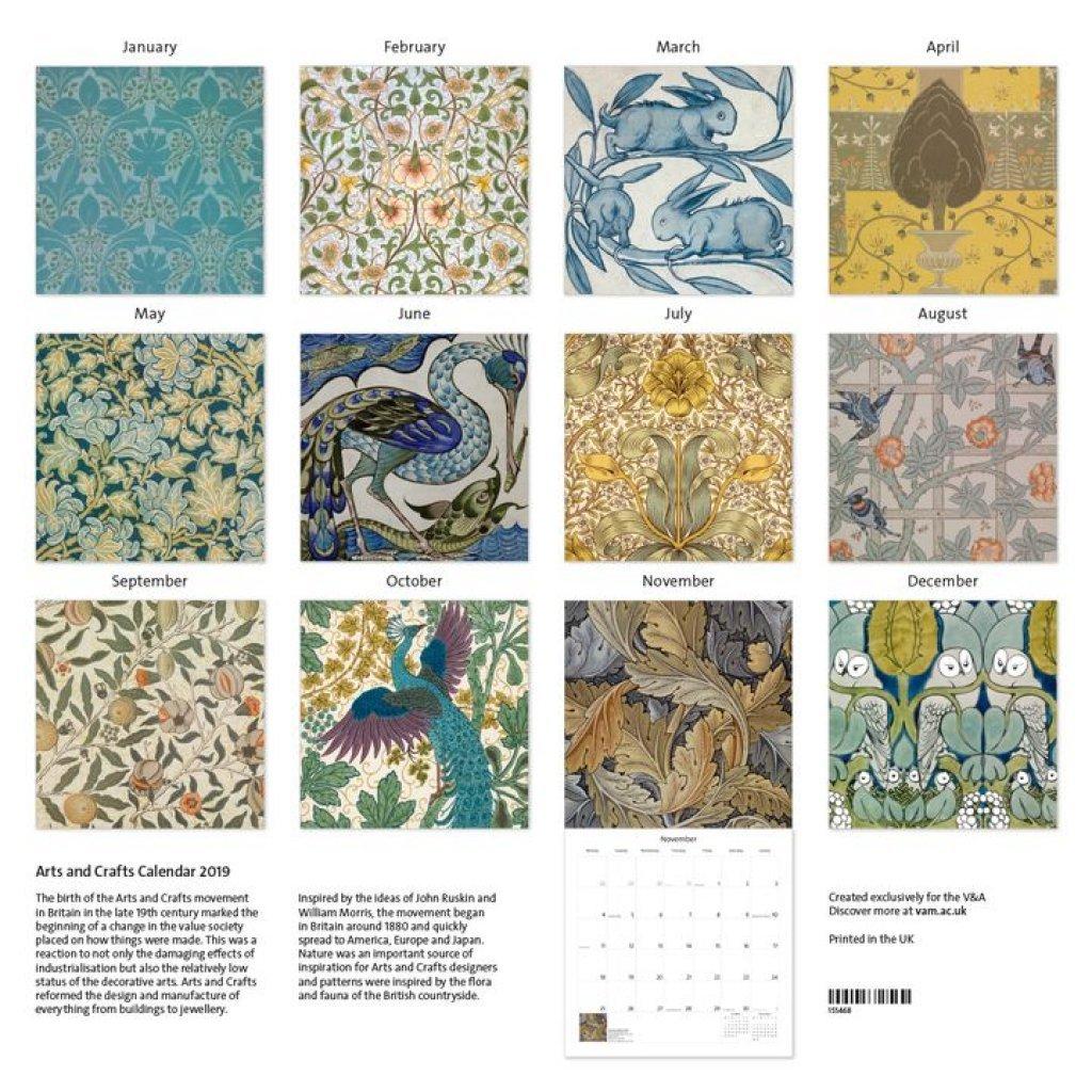 V&a Arts And Crafts – Kent A To Z V&a Calendar 2019
