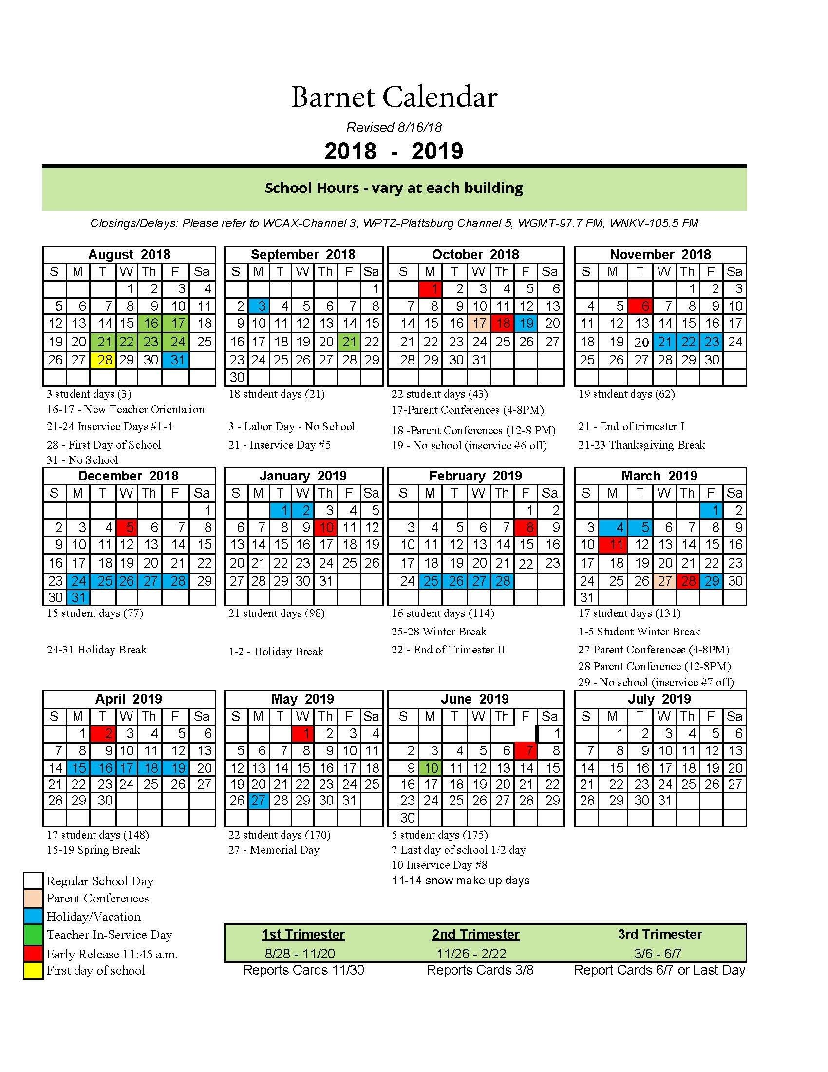 Vt Calendar 2018 2019 Print For Free Of Cost – Calendaro.download Calendar 2019 Vt