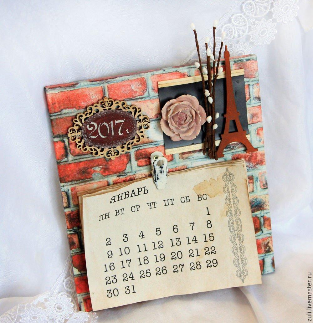 "Wall Calendar, 2019. "" Loft"" – Shop Online On Livemaster With Calendar 2019 Buy"