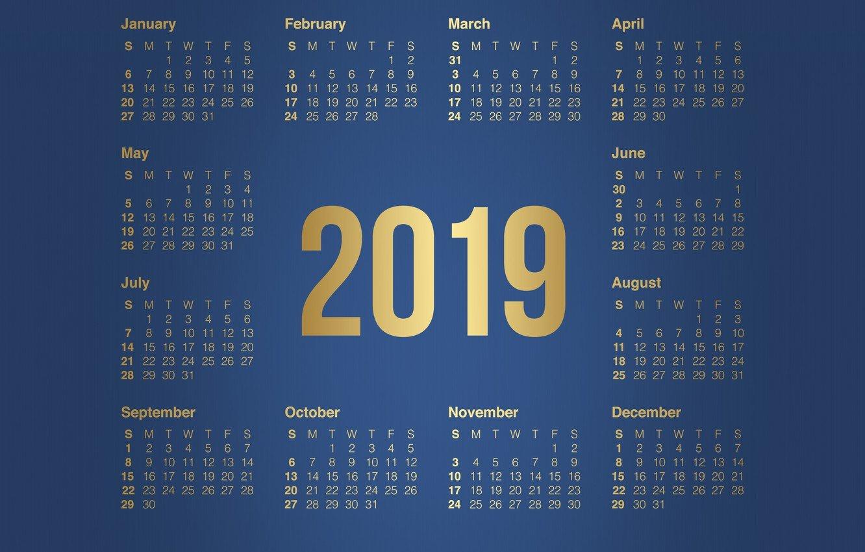 Wallpaper Minimalism, Background, Background, Calendar, A Month Calendar 2019 Wallpaper