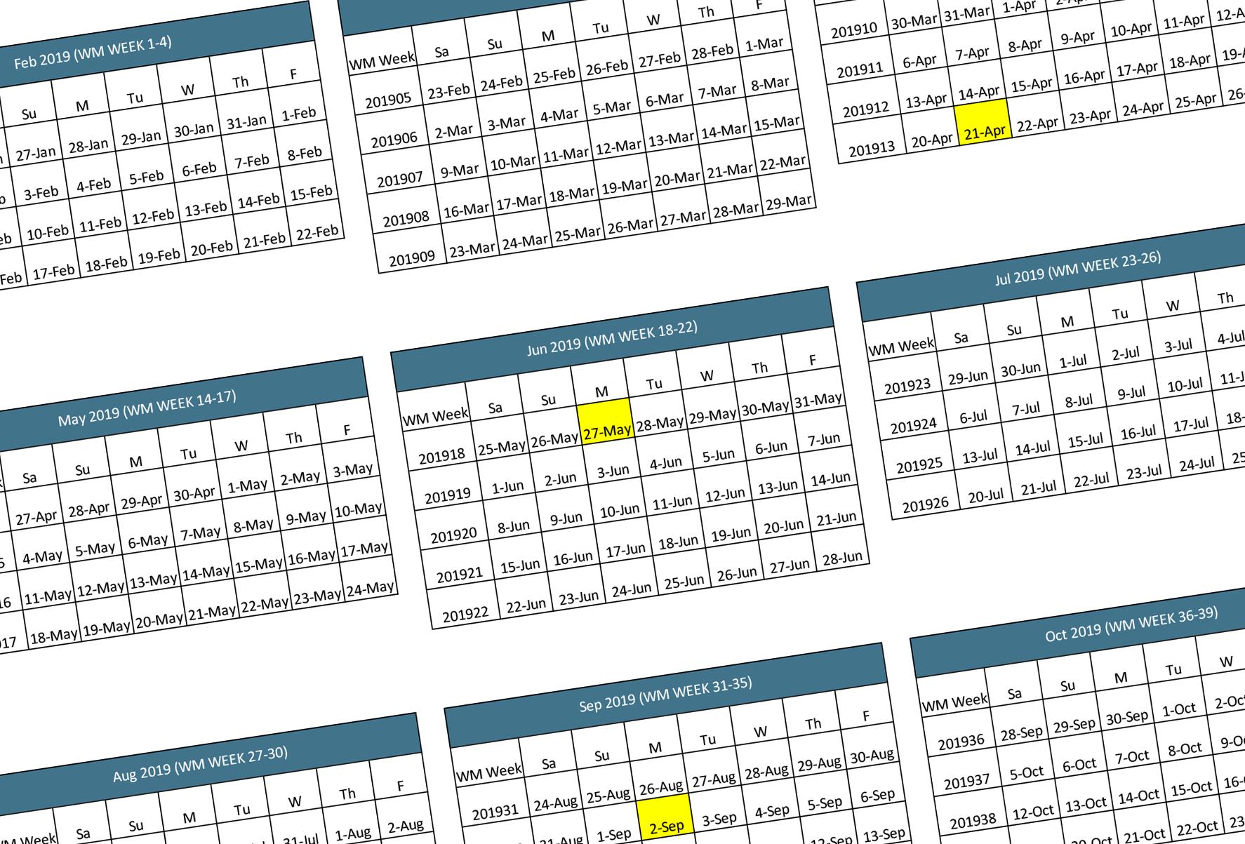 Walmart 2019 2020 Fiscal Calendar   Walmart Supplier News And Resources 544 Calendar 2019