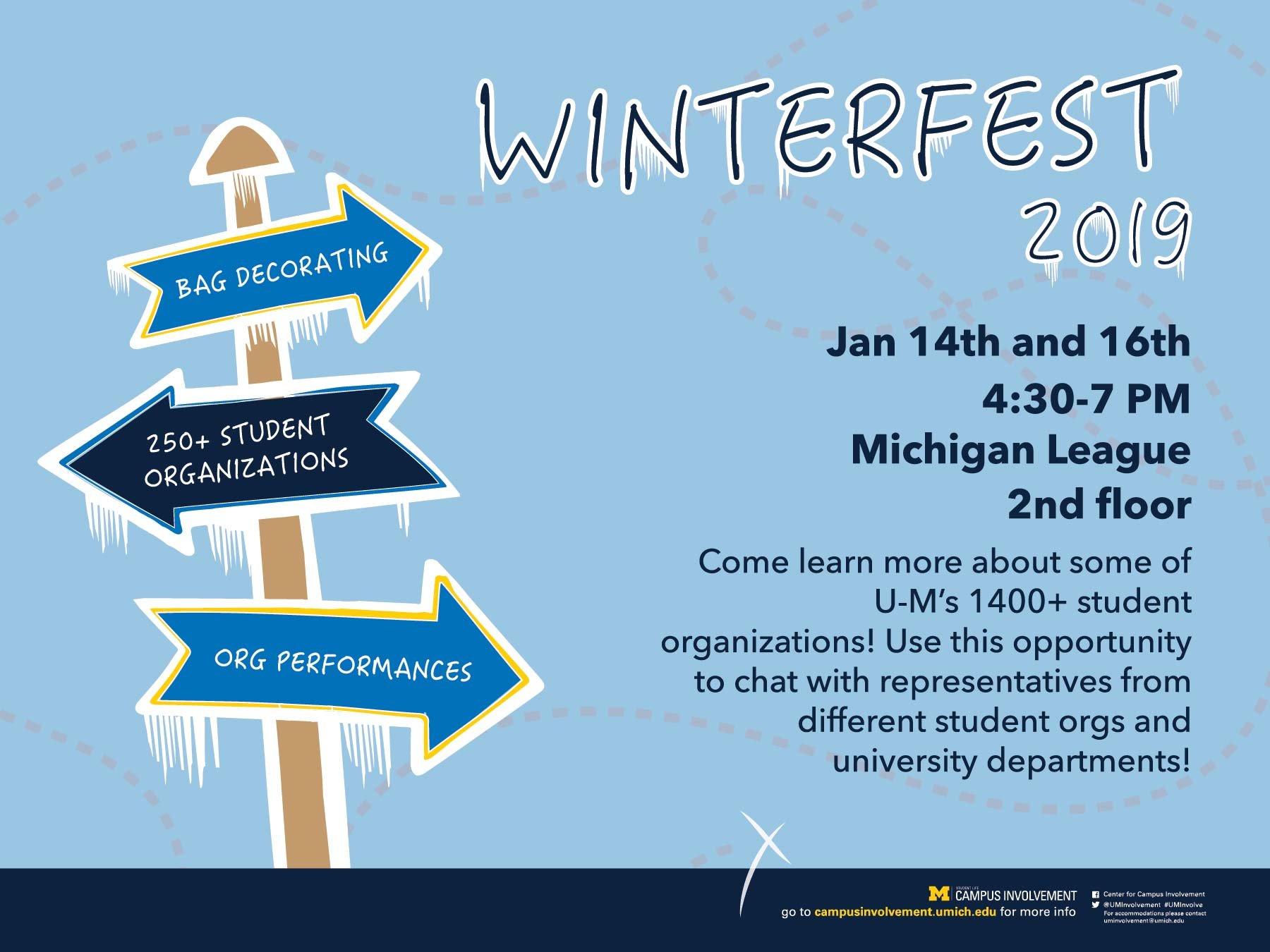 Winterfest 2019   Campus Involvement Calendar 2019 Umich