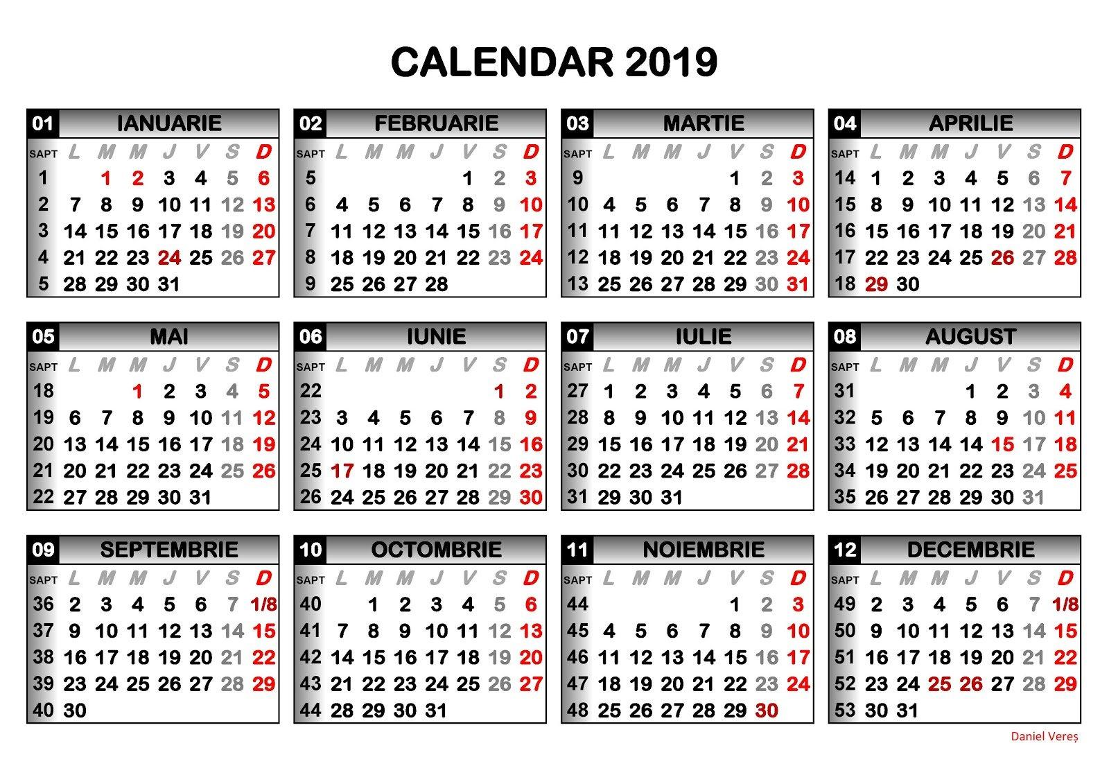 Ziar Piatra Neamt Câte Zile Libere Ne Așteaptă În 2019 – Ziar Piatra Calendar 2019 Zile Libere