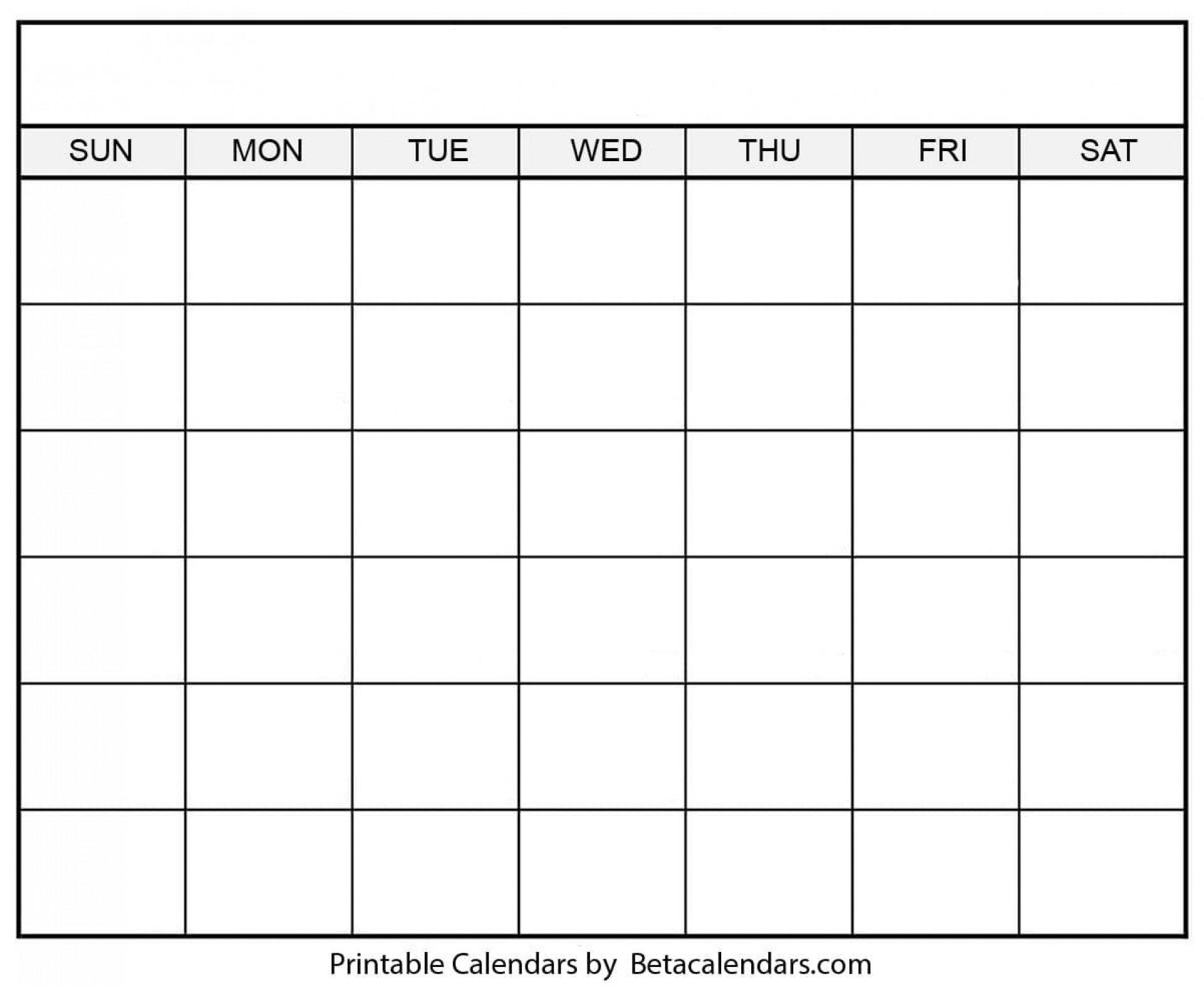 005 Incredible 30 Day Calendar Template Example ~ Addictionary 30 Day Blank Printable