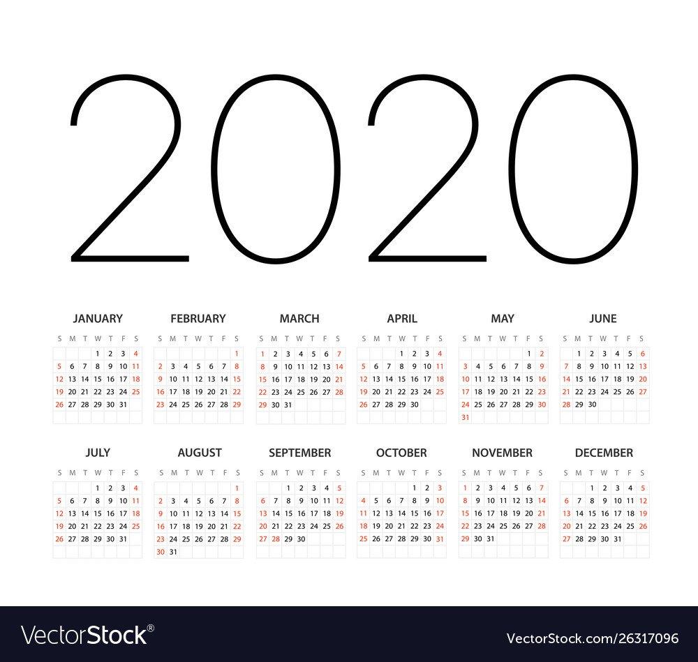 2020 Calendar You Can Edit | Calendar Printables Free Templates Calendar That You Can Edit