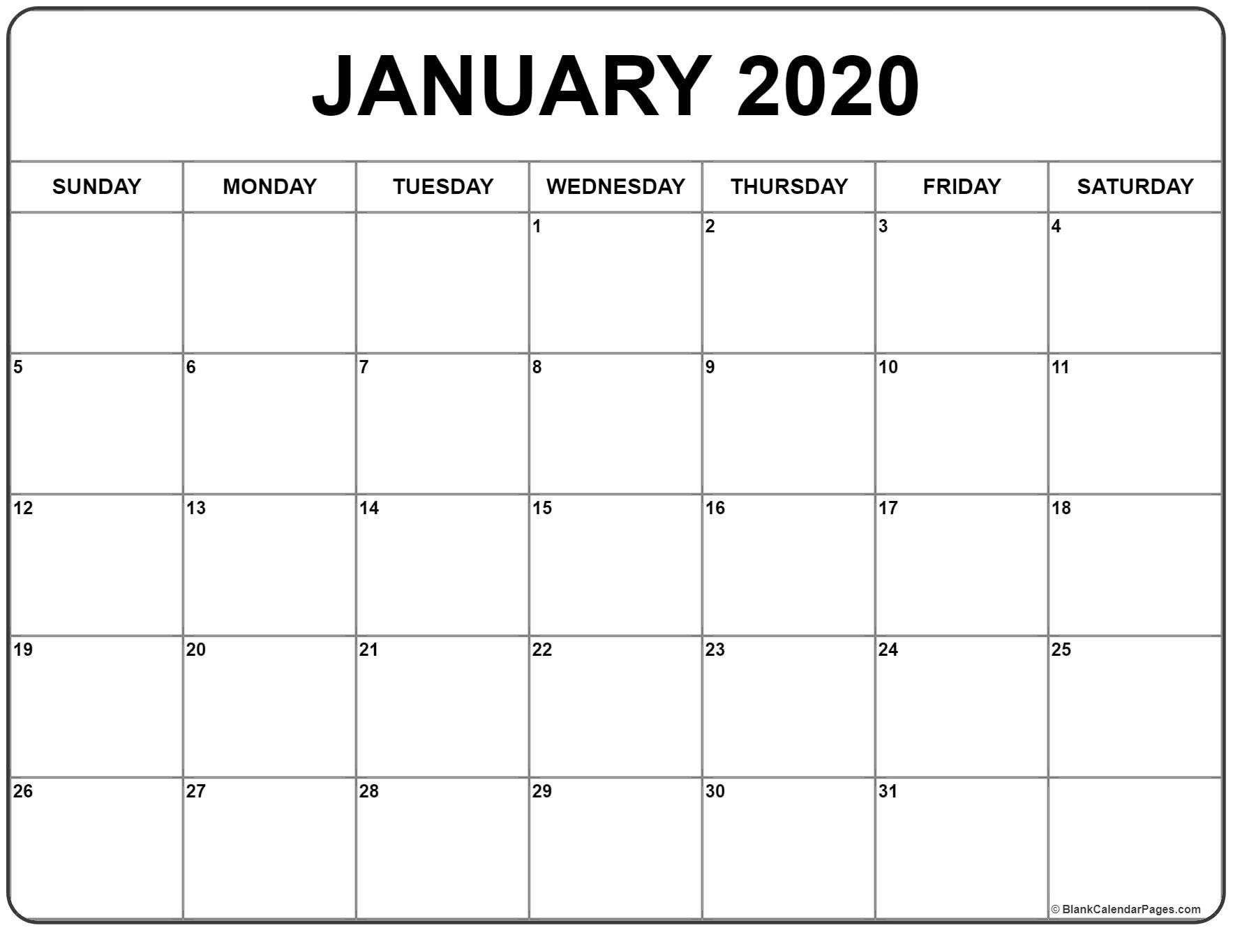 2020 Free Printable 8.5 X11 Monthly Calendars   Calendar Free 5 X 8 Calendar