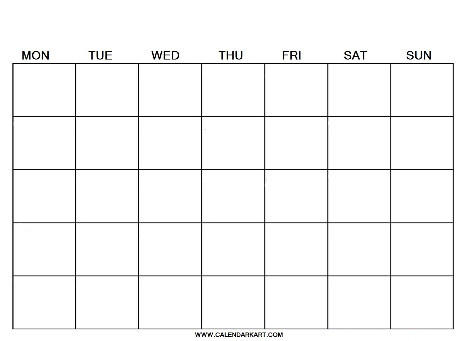 2020 Free Printable Blank Calendar Template » Calendarkart Free Calendars To Fill Out And Print