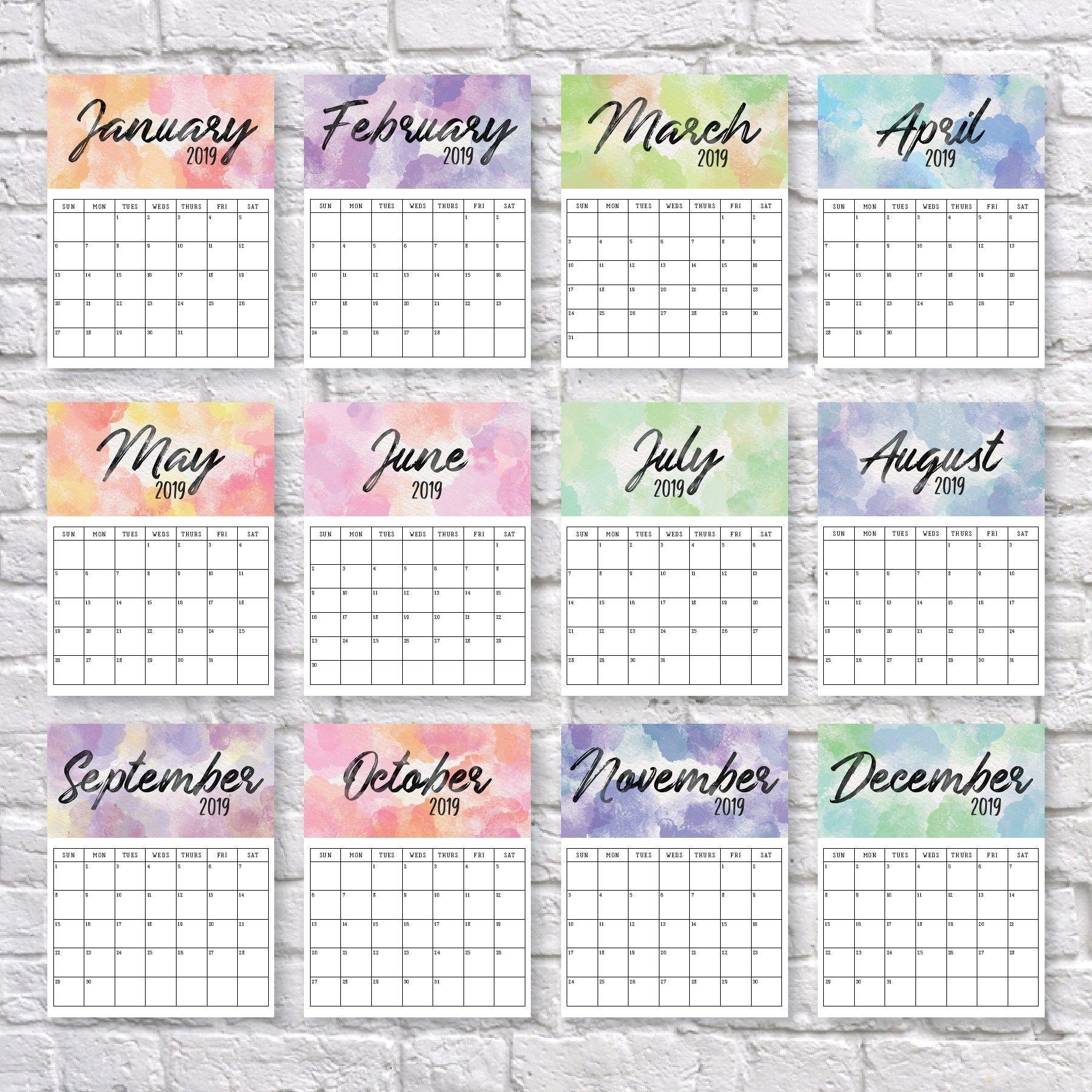 2020 Printable Calendar   Календарь Для Печати, Календарь 5.5 X 8.5 Inch Calendar