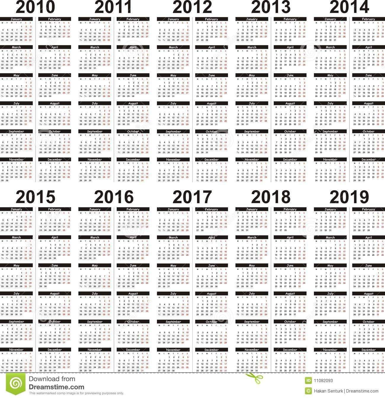5 Year Calendar (With Images) | 5 Year Calendar, Calendar Printable 5 Year Calendar