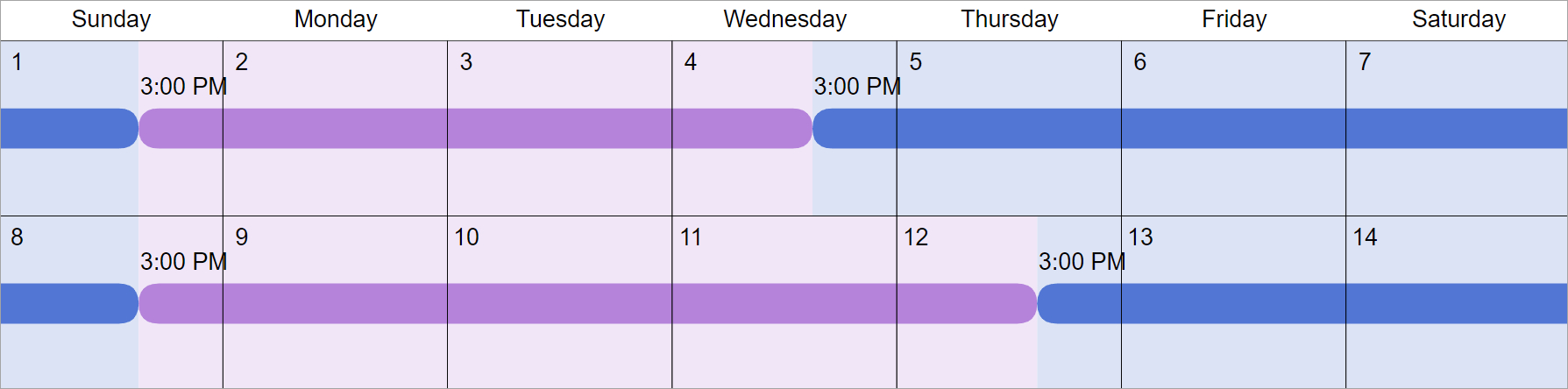 50/50 Custody & Visitation Schedules: 6 Most Common Examples How To A Make A Two Week Schedule