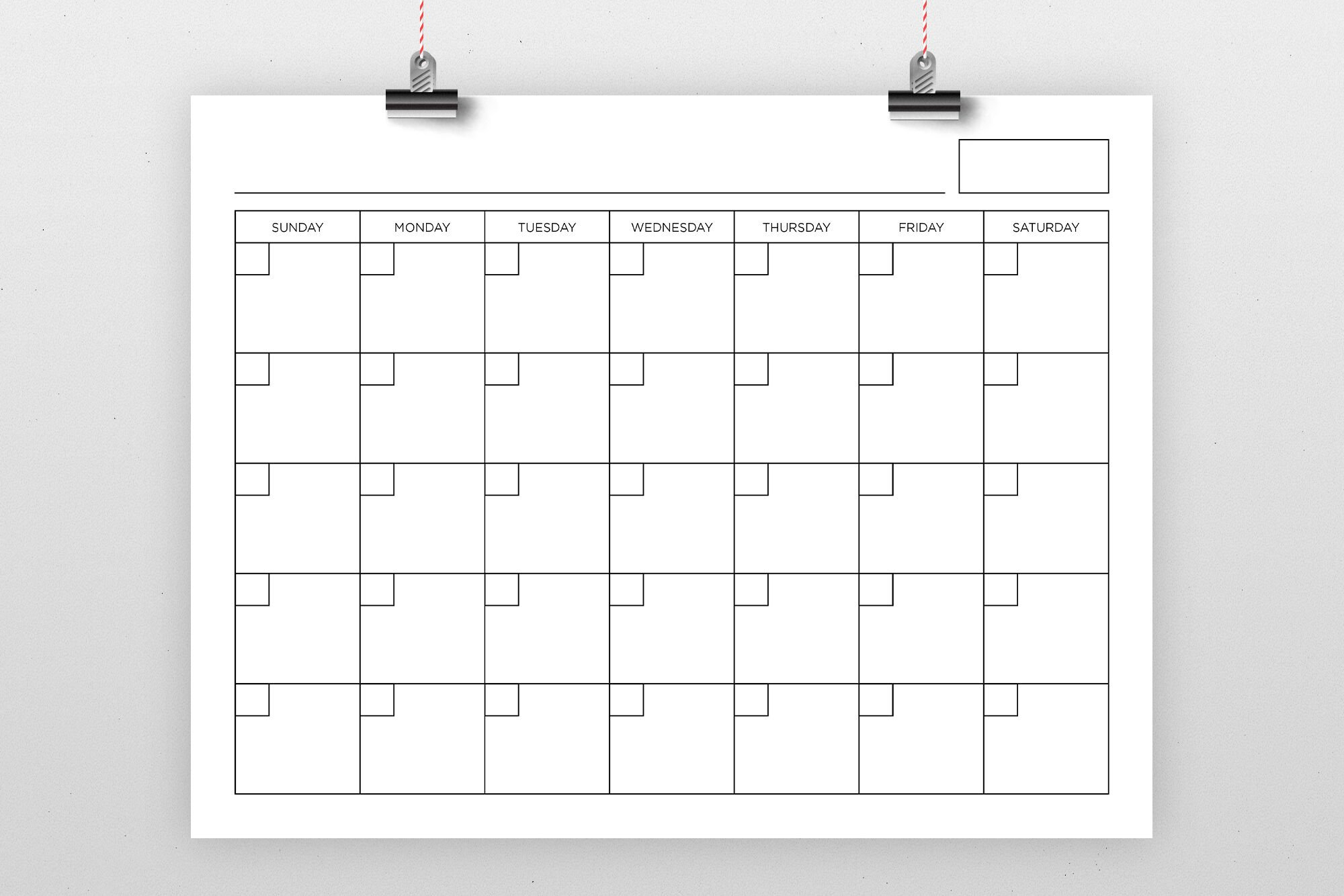 8.5 X 11 Inch Blank Calendar Page Templaterunning With Monday Through Friday 8 5 Calendar