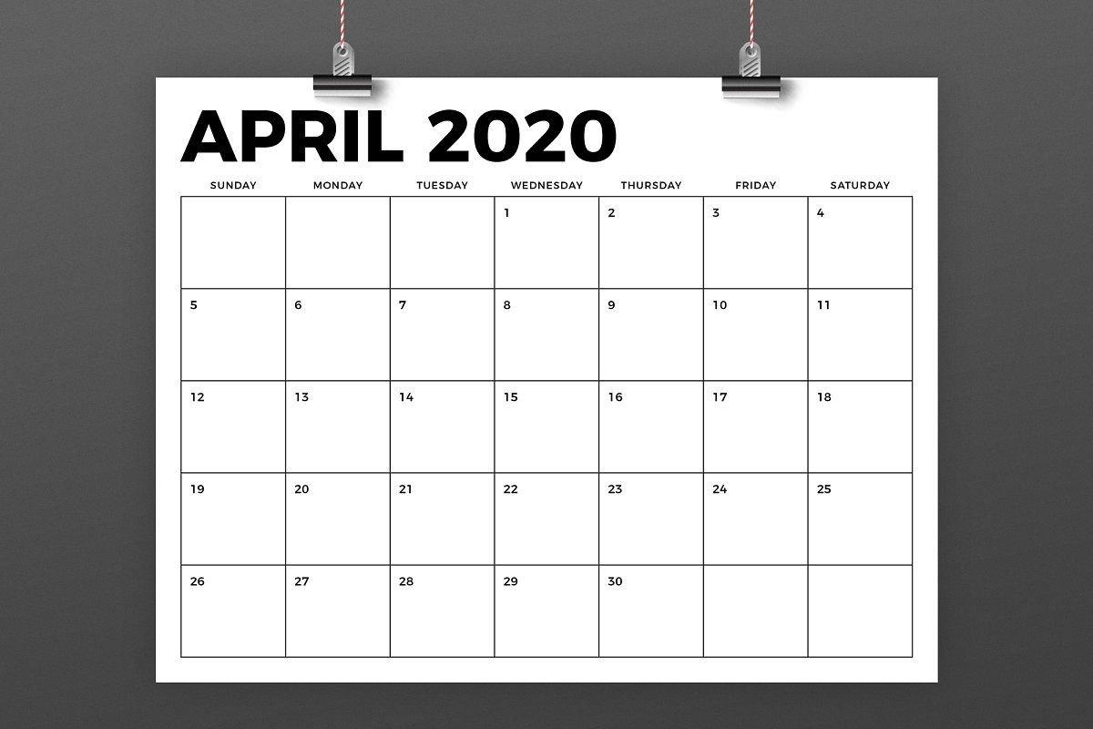 8.5 X 11 Inch Bold 2020 Calendar 8.5 By 11 Calendar