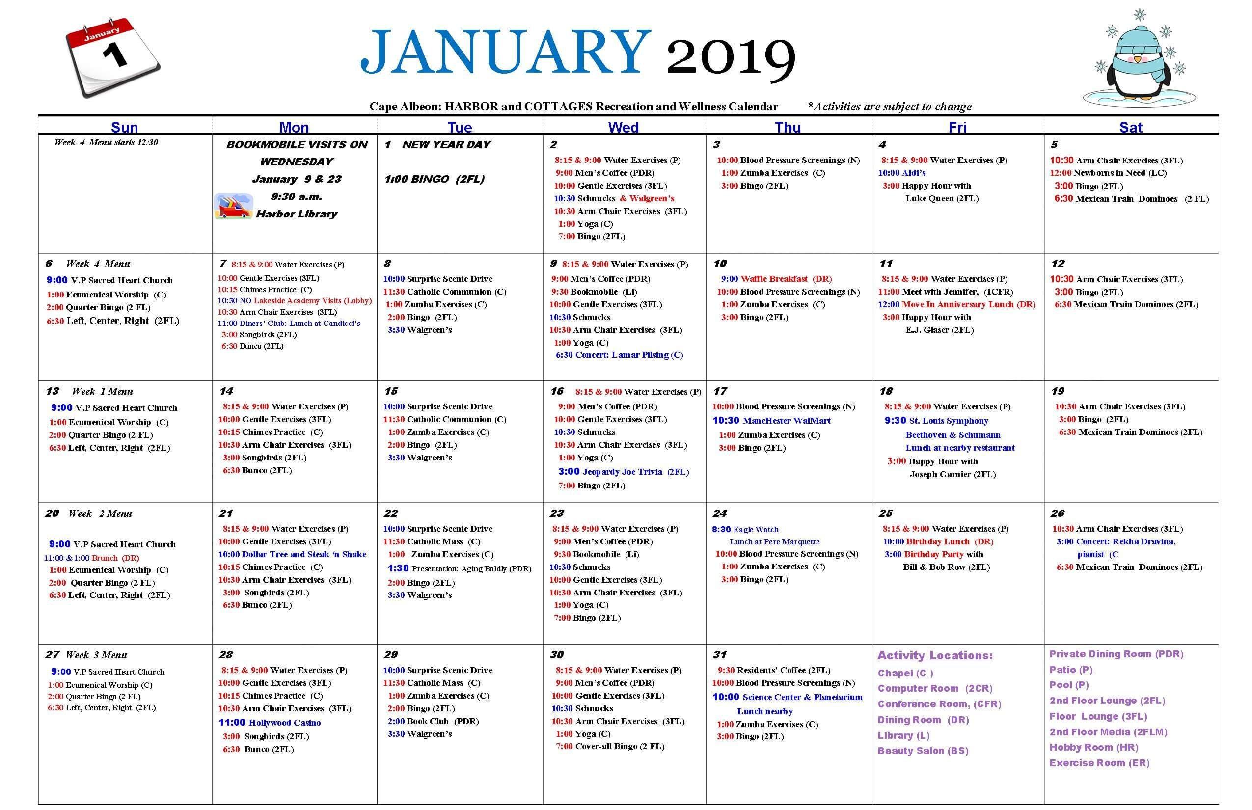Activities & Events – Life At Cape Albeon | Cape Albeon Calendar Three Monsts Temple